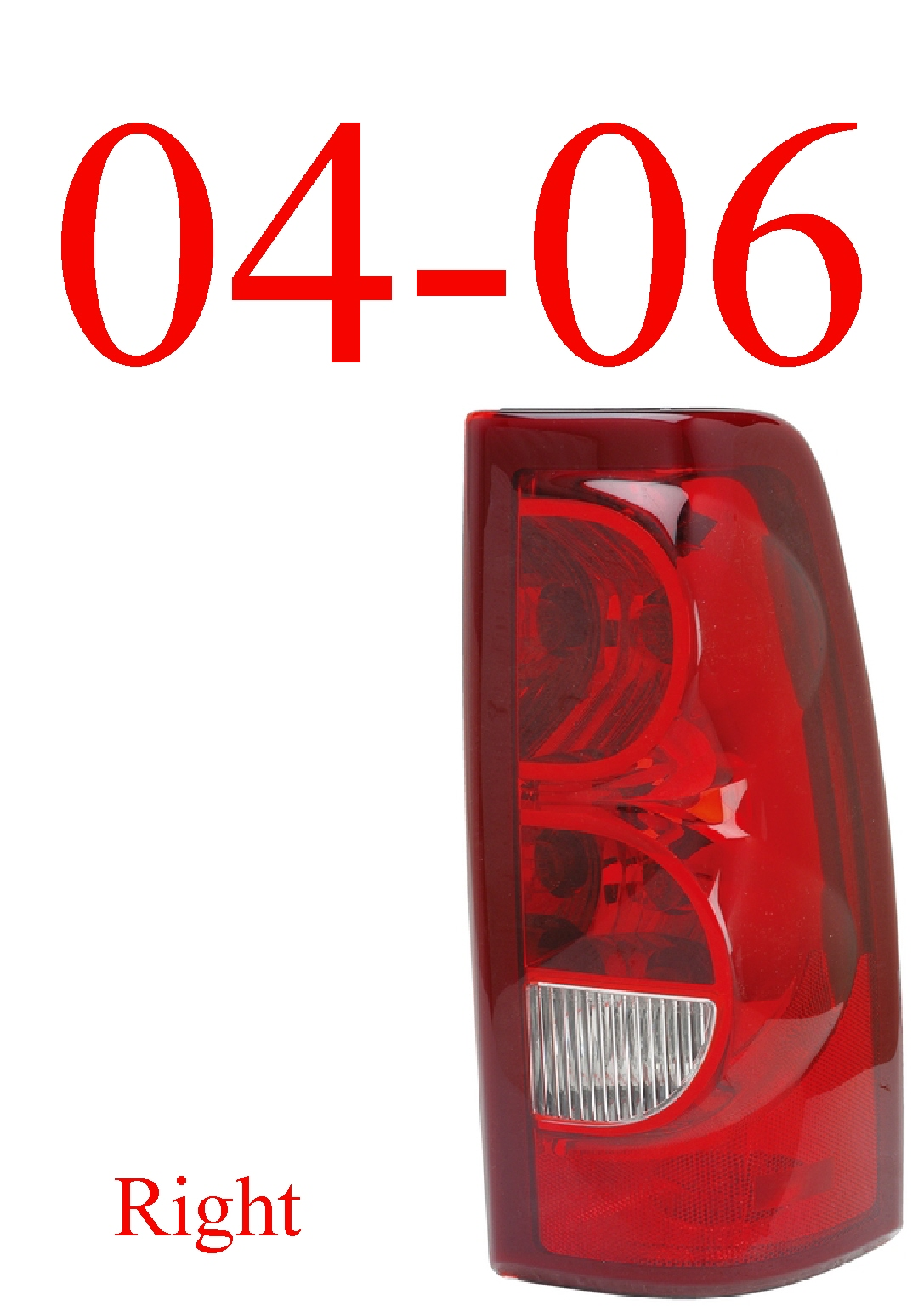 04-06 Chevy Right Tail Light, Silverado