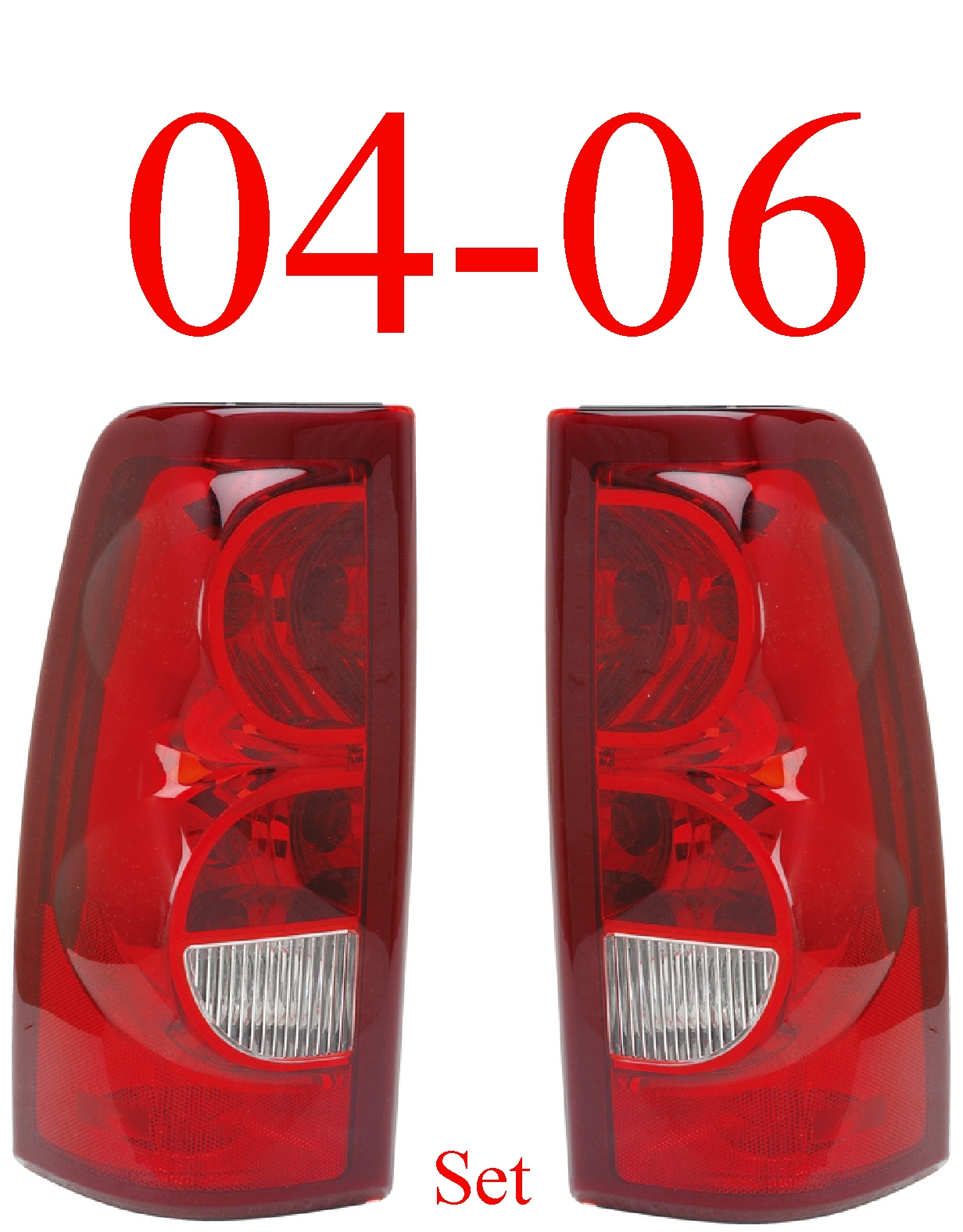 04-06 Chevy Tail Light Set, Silverado