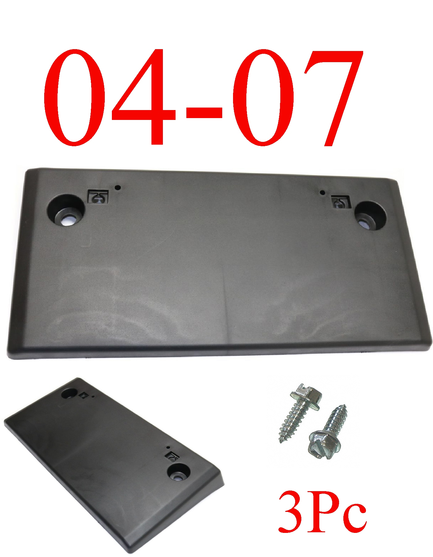 04-07 Mitsubishi Lancer 3Pc Front License Plate Bracket