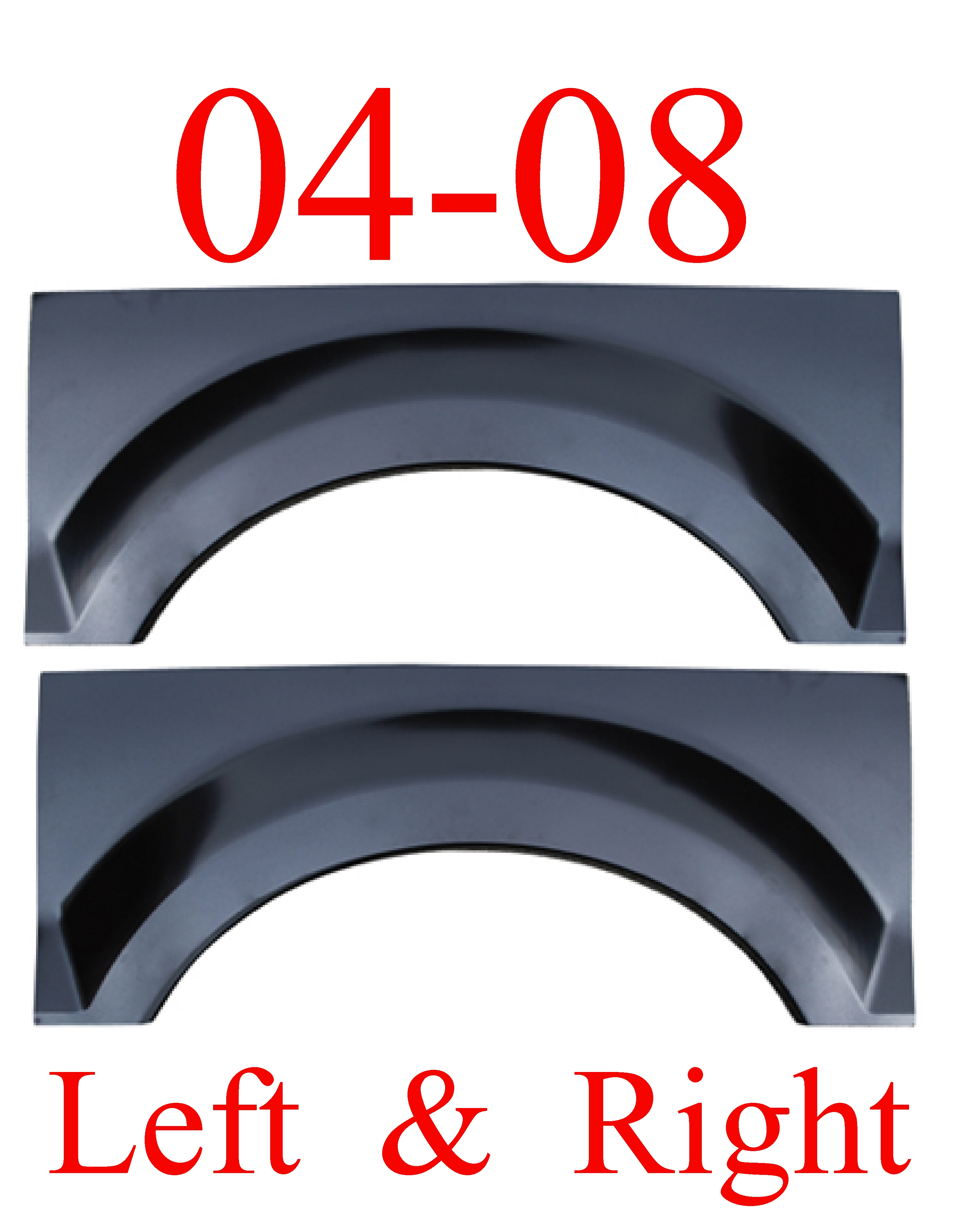 04 08 F150 Upper Arch Repair Panel Set