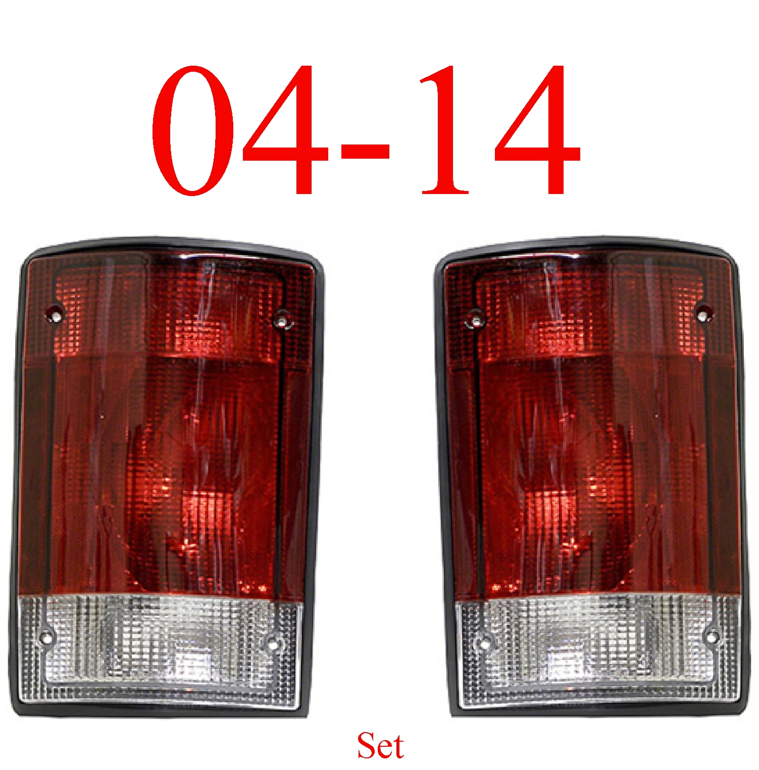 04-14 Ford Econoline Tail Light Set