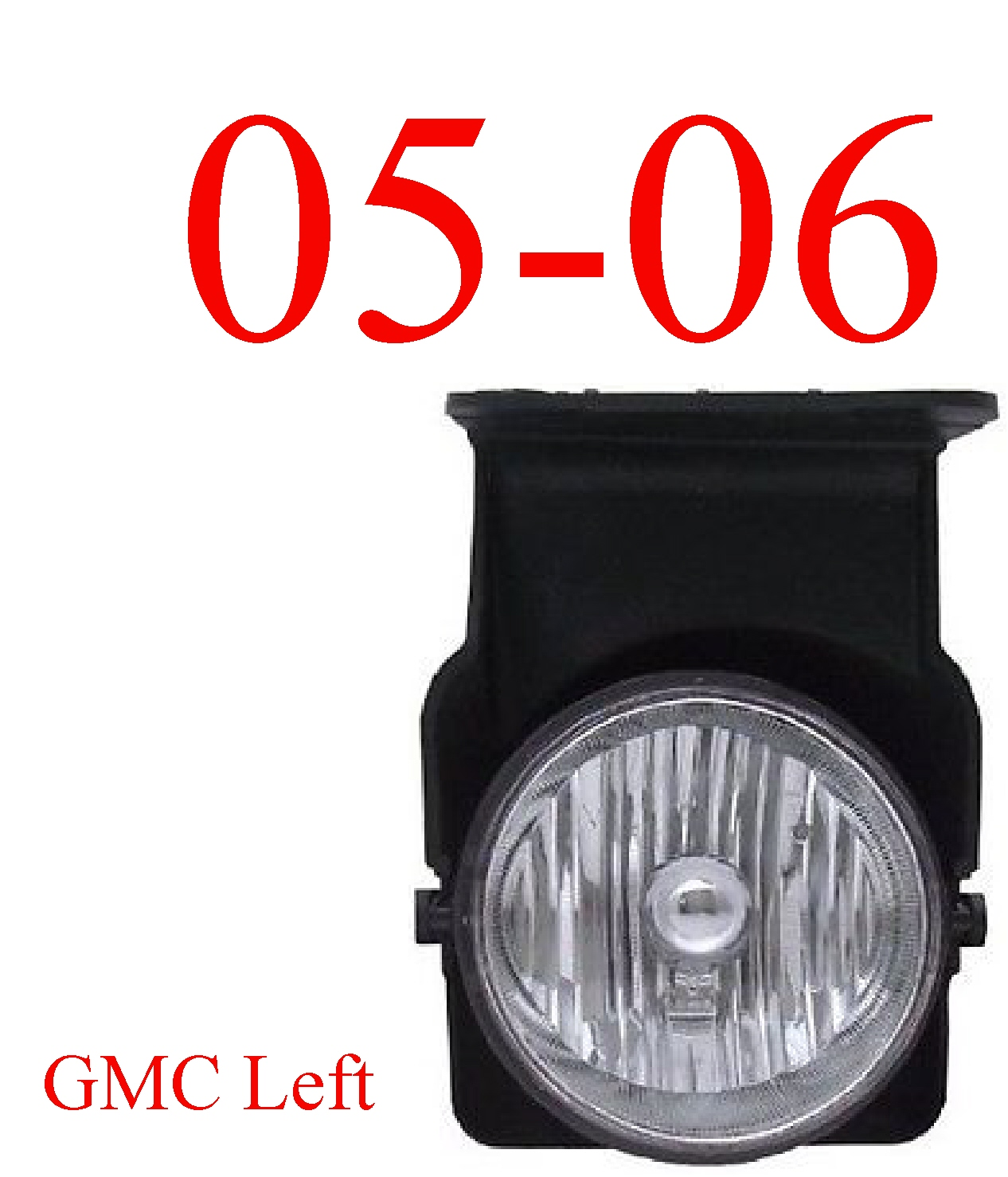 05-06 GMC Truck Left Fog Light Assembly