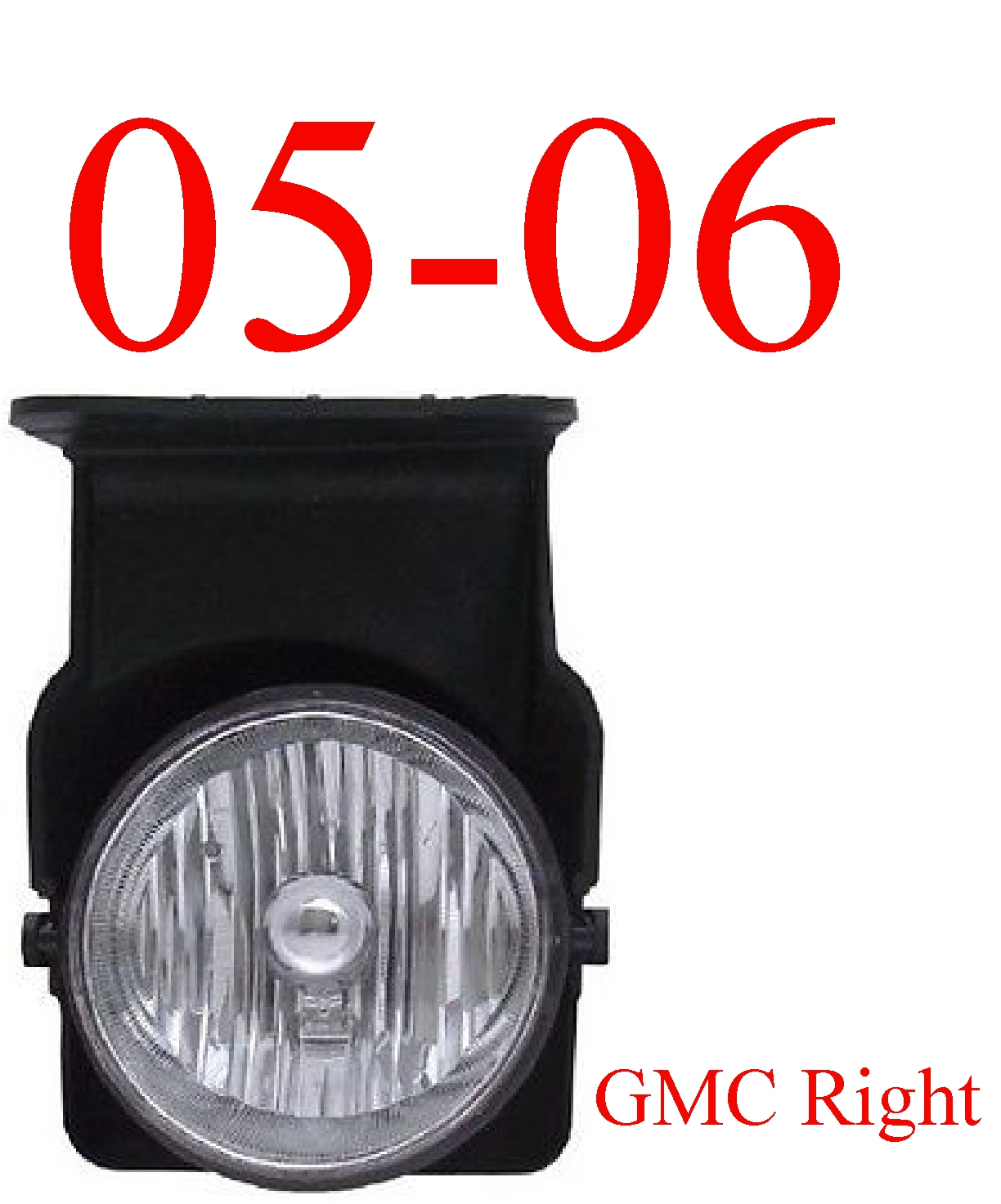 05-06 GMC Truck Right Fog Light Assembly