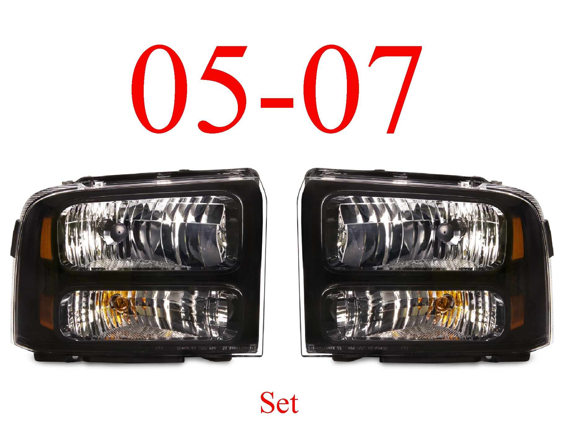 05-07 Super Duty Harley Davidson Head Light Set