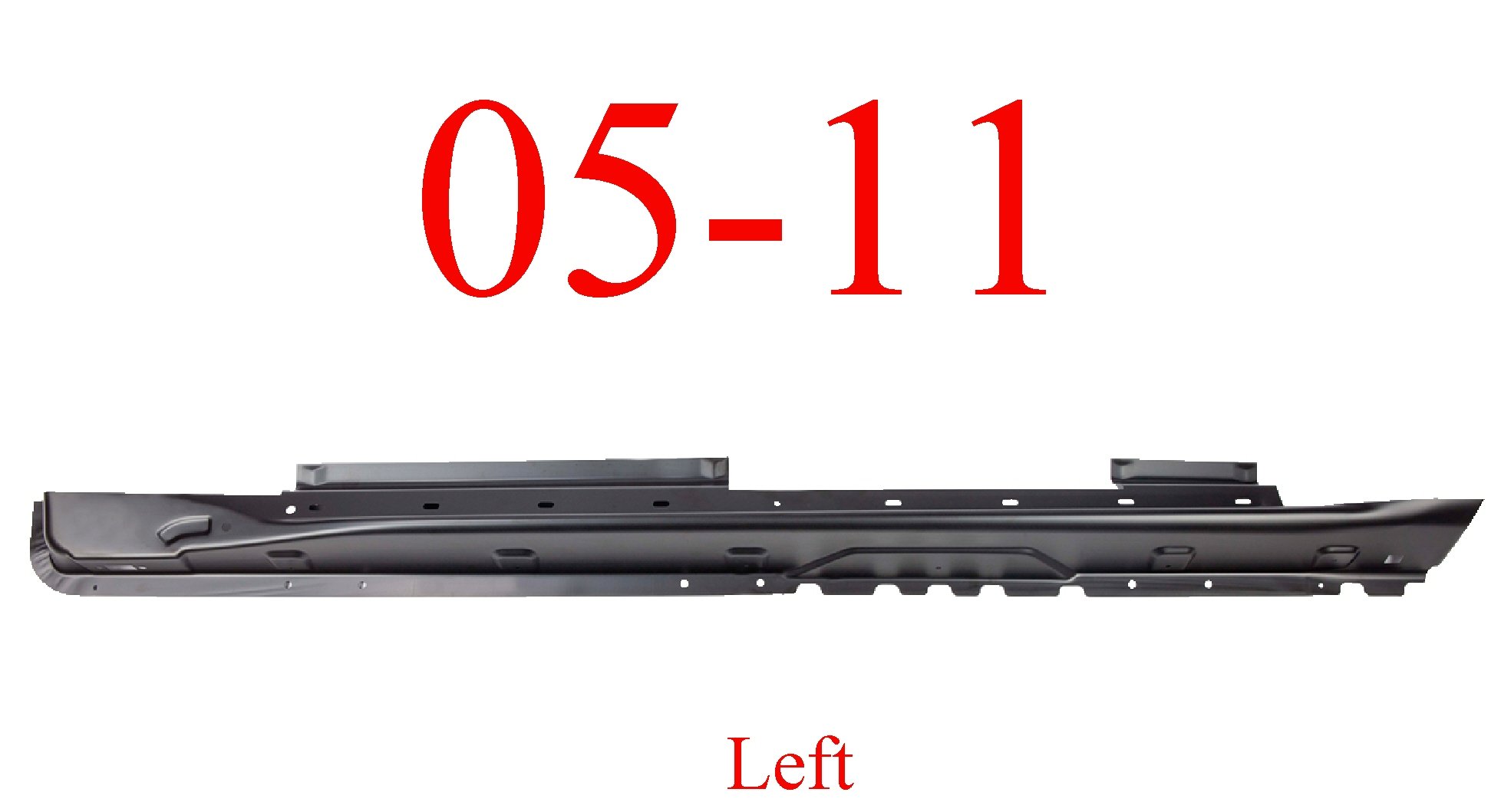 05-11 Jeep Grand Cherokee Left Extended Rocker Panel