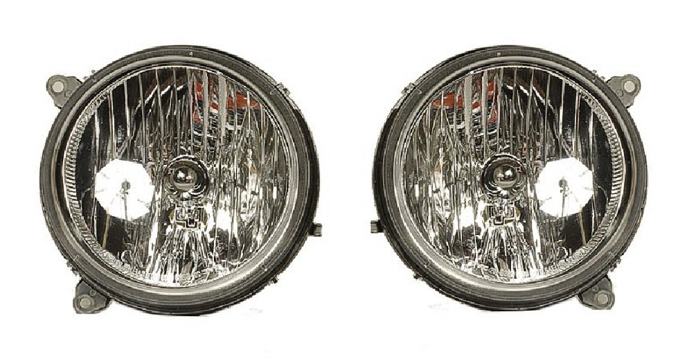 05 06 07 Jeep Liberty 2Pc Head Light Set L&R
