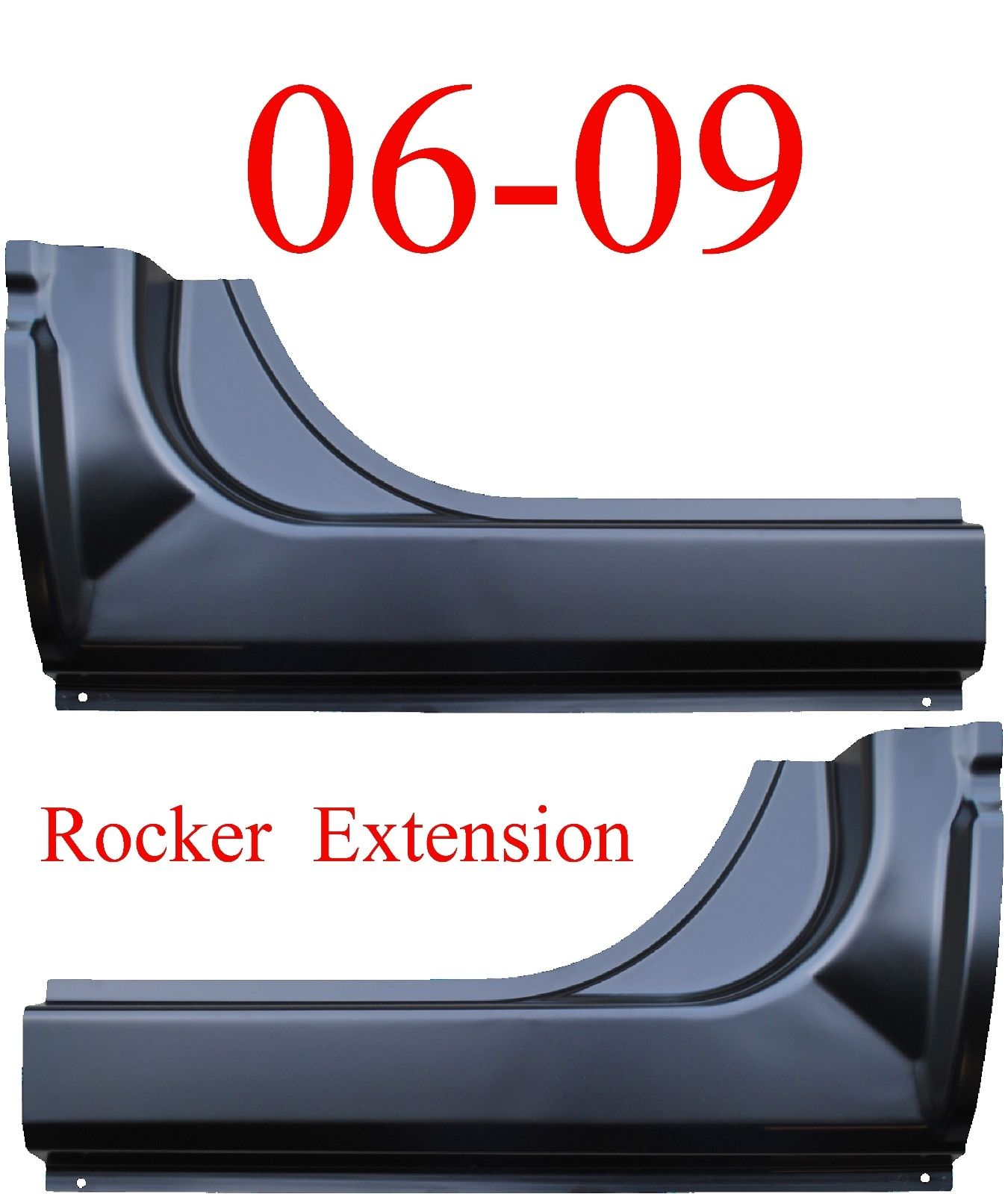 06-09 Mega Cab Dodge Ram Rocker Extension SET