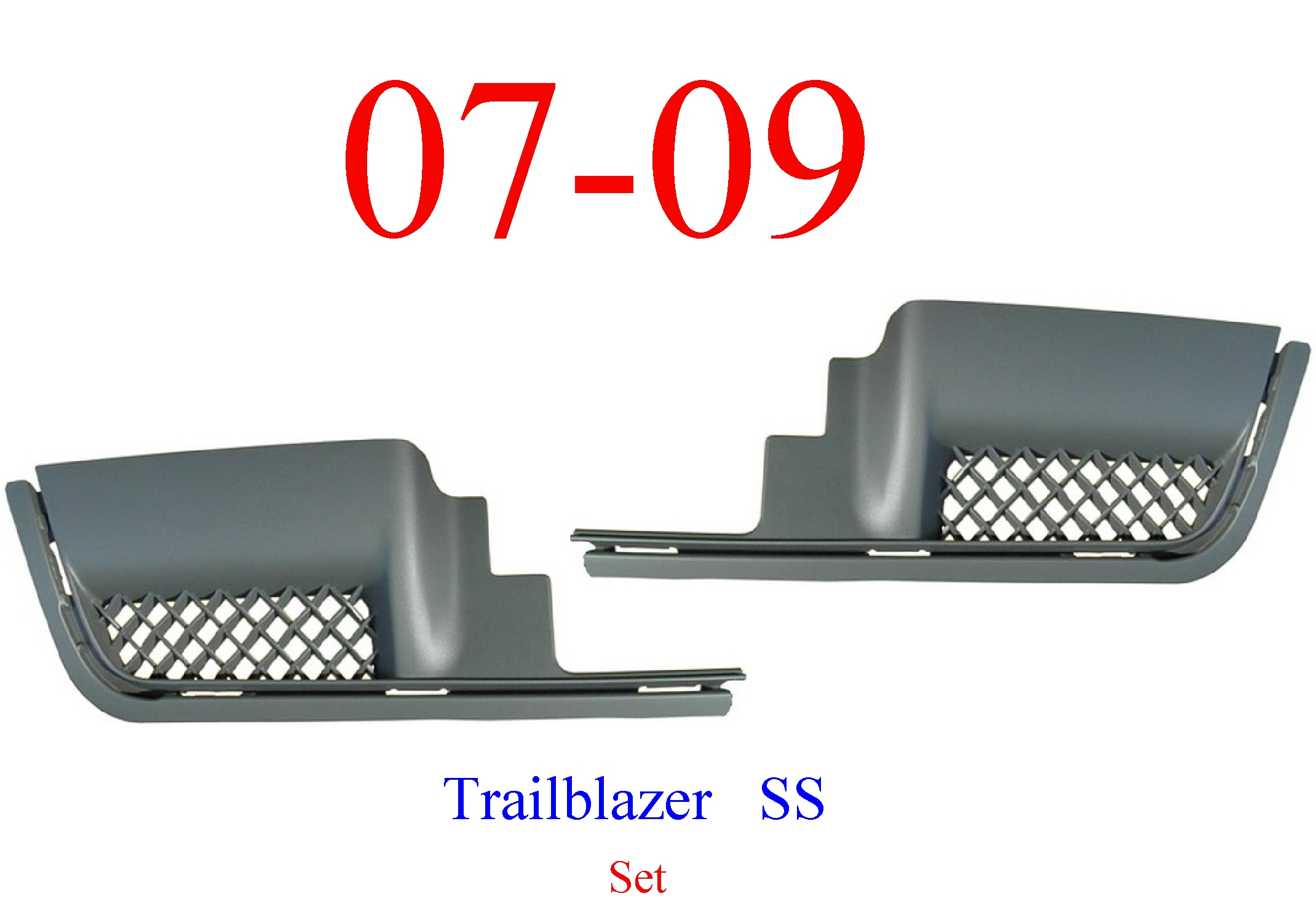 06-09 Trailblazer SS Rear Step Pad Set