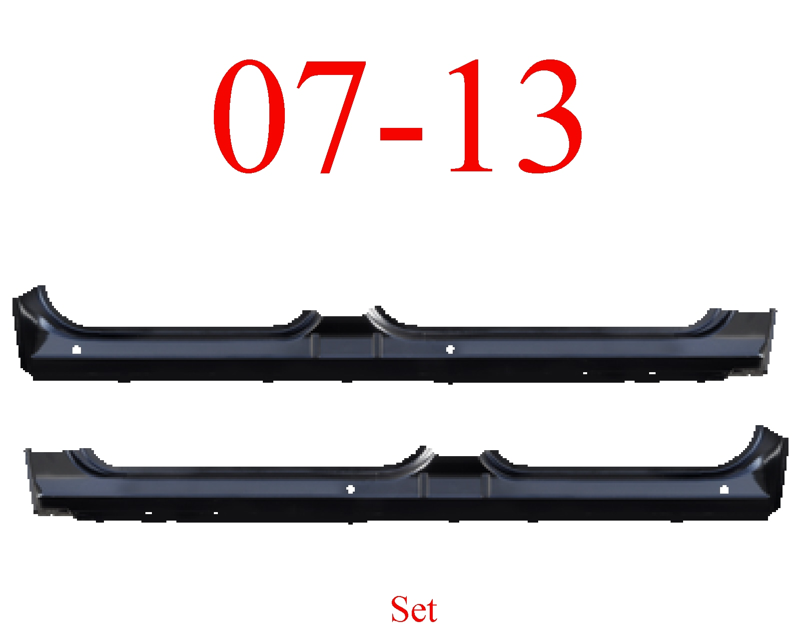 07-13 Crew Cab Extended Rocker Panel Set
