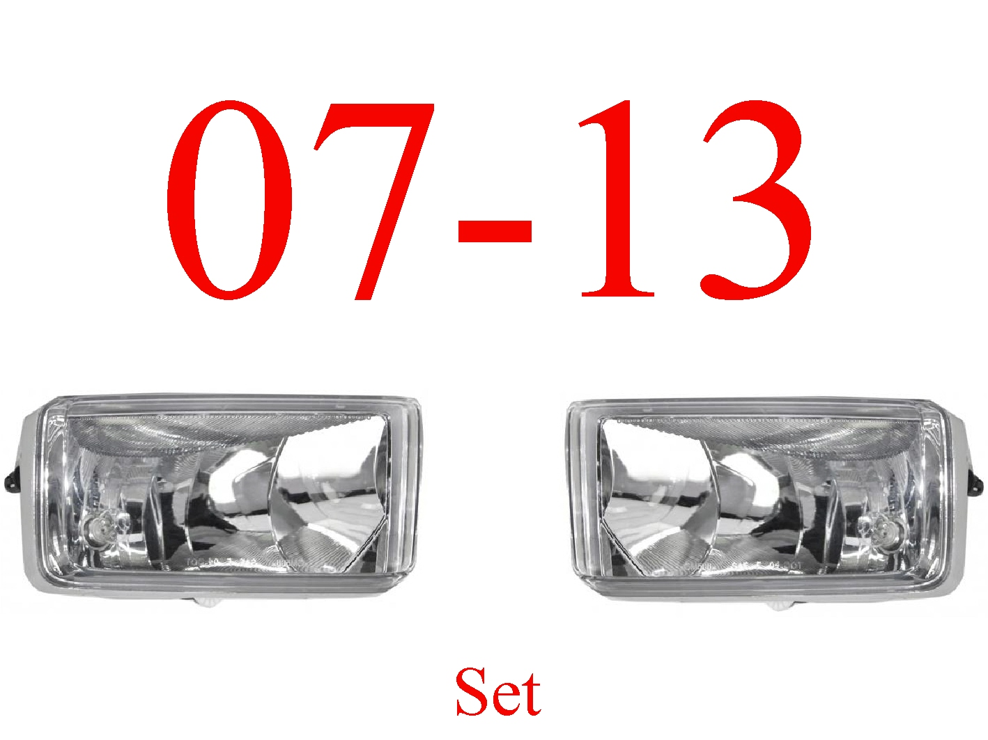 07-13 Chevy Fog Light Set, Assembly