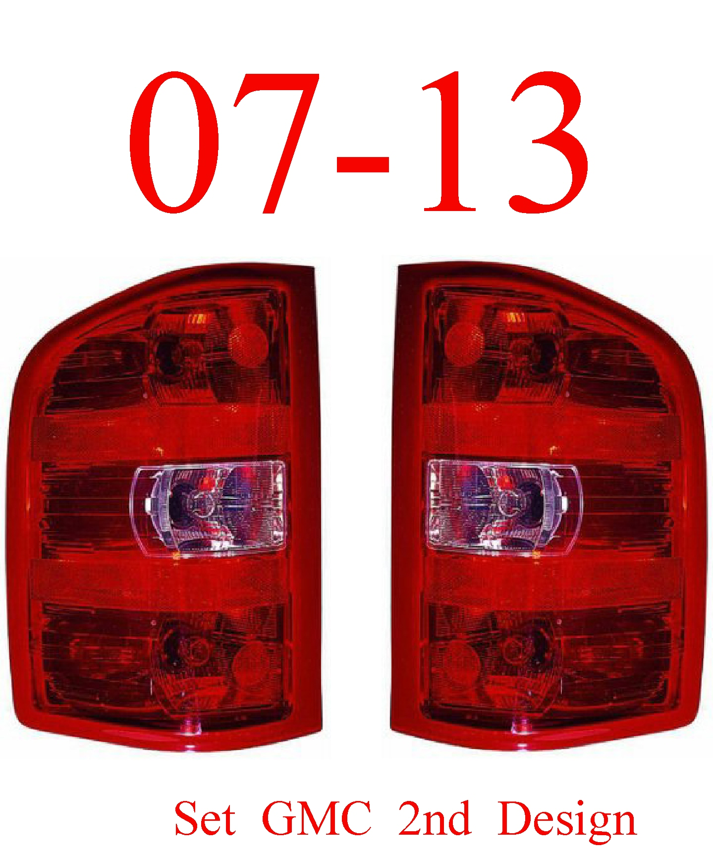 07-13 GMC Tail Light Set 2nd Design