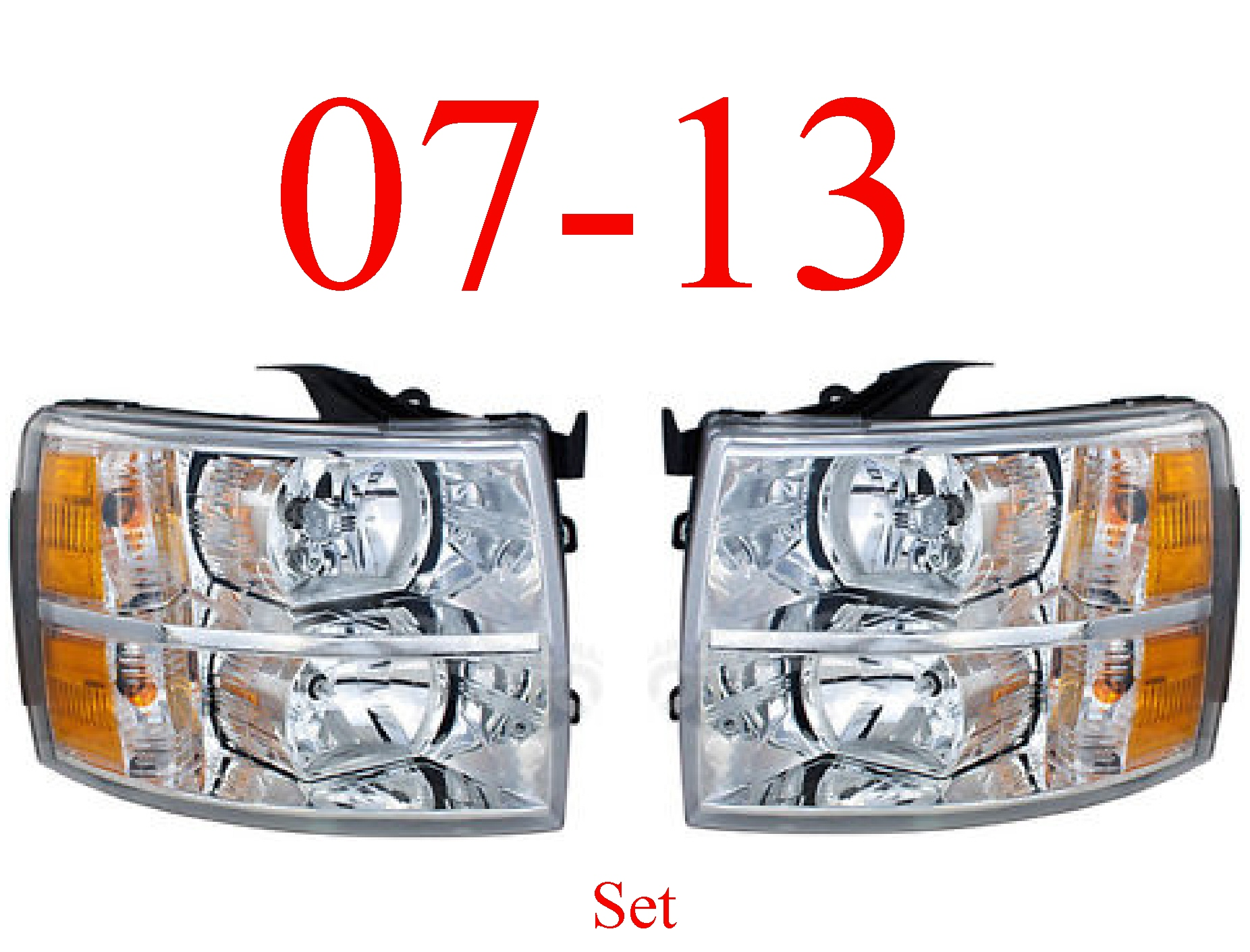 07-13 Chevy Head Light Set L&R