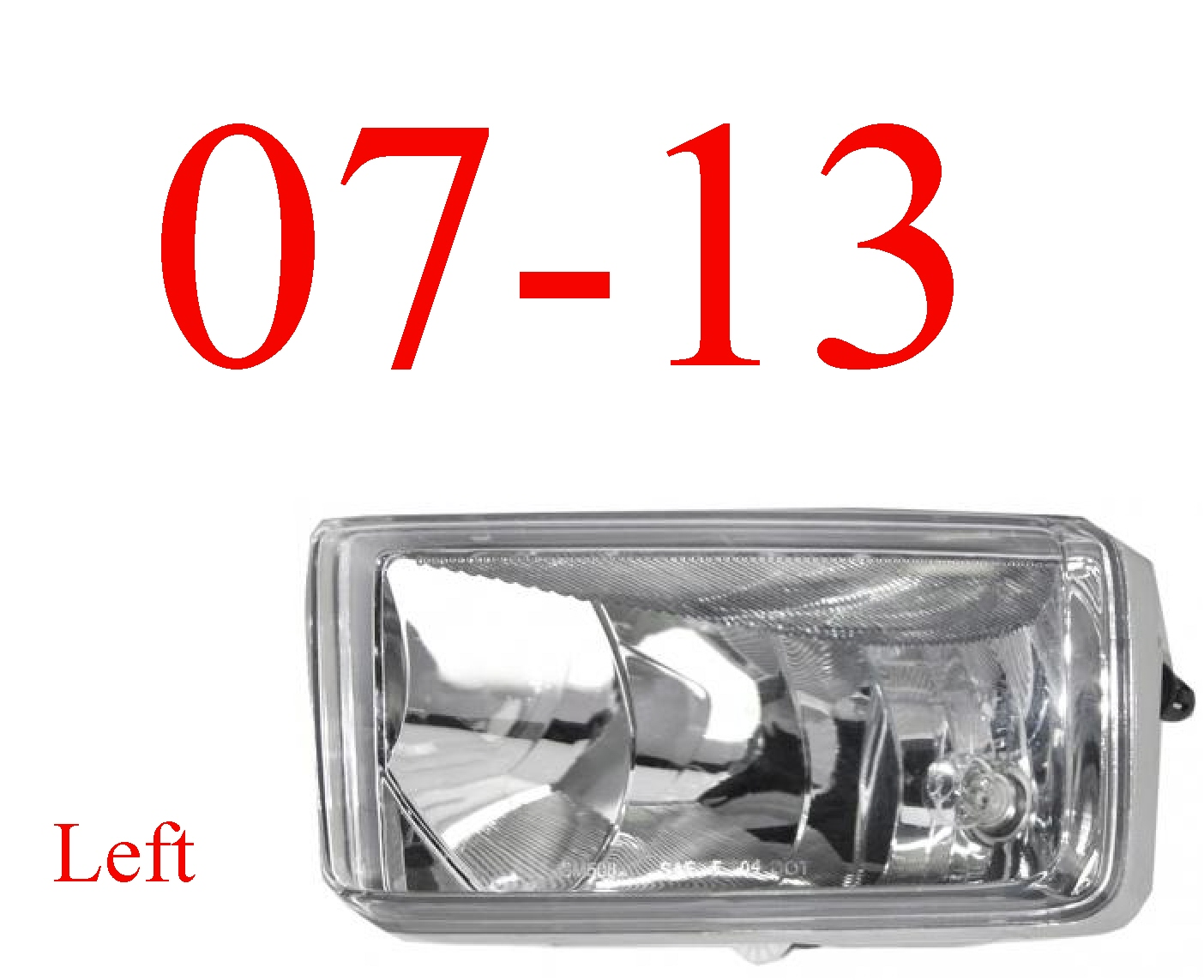 07-13 Chevy Left Fog Light Assembly