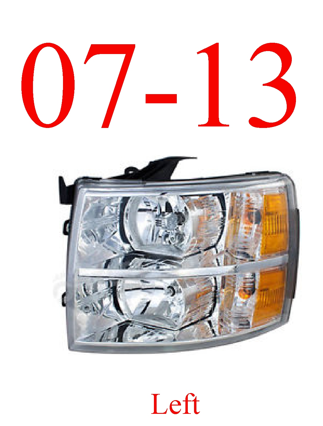 07-13 Chevy Left Head Light Assembly