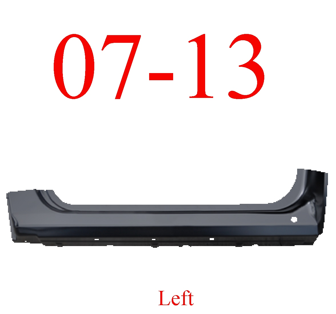 07-13 Left Regular Cab Extended Rocker