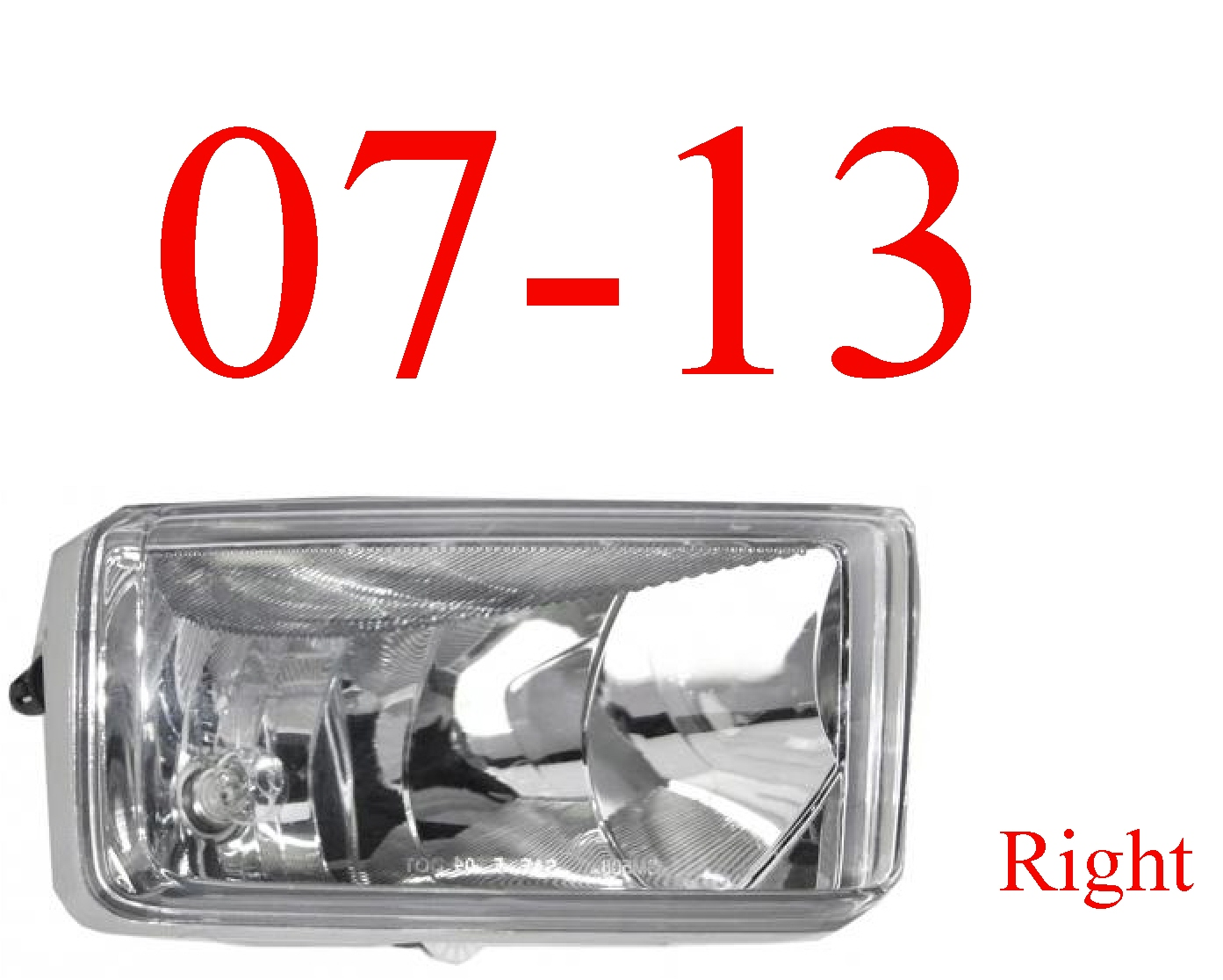07-13 Chevy Right Fog Light Assembly
