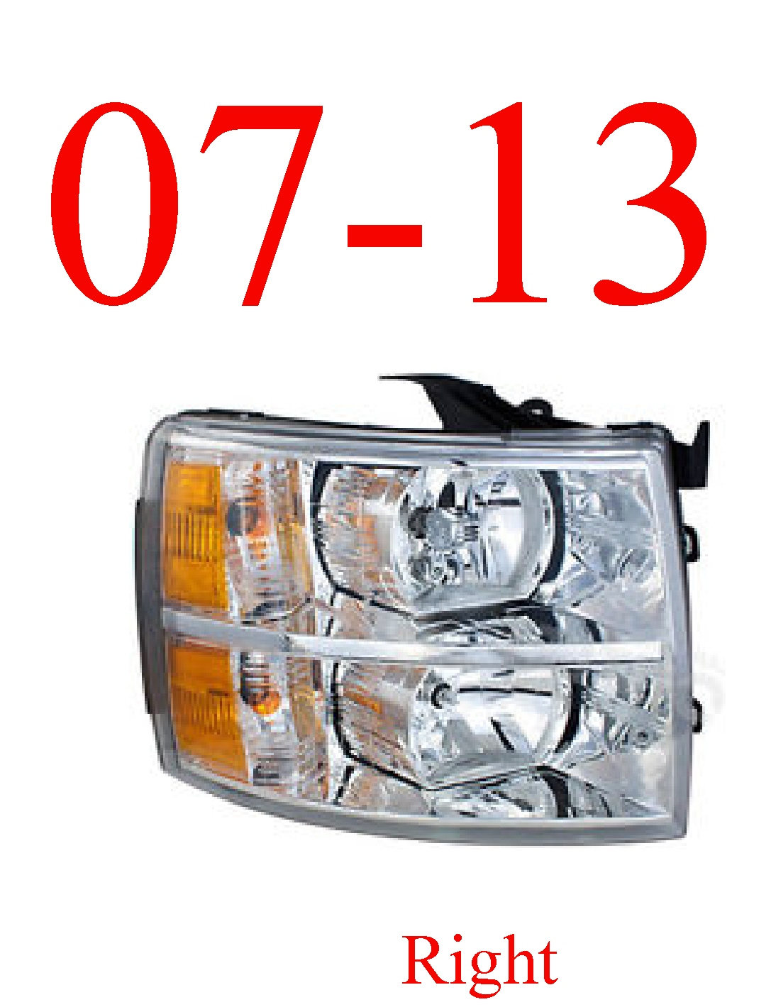 07-13 Chevy Right Head Light Assembly