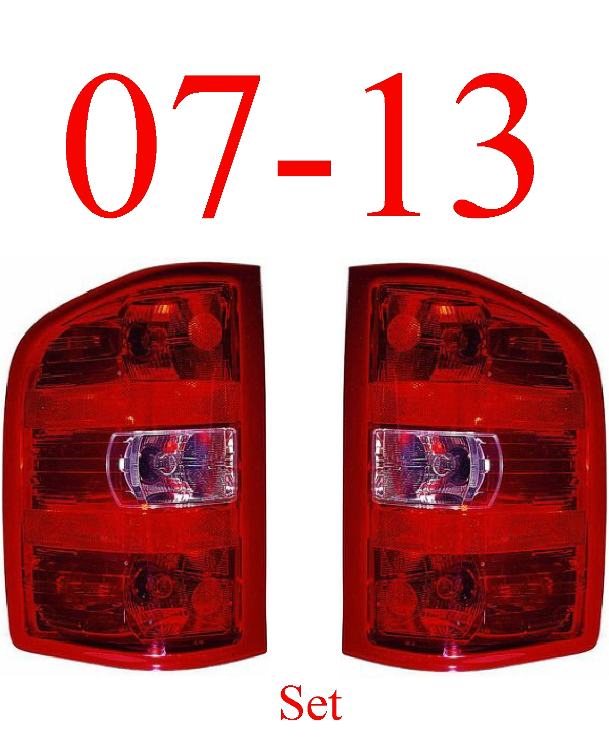 07-13 Chevy Tail Light Set, Assembly