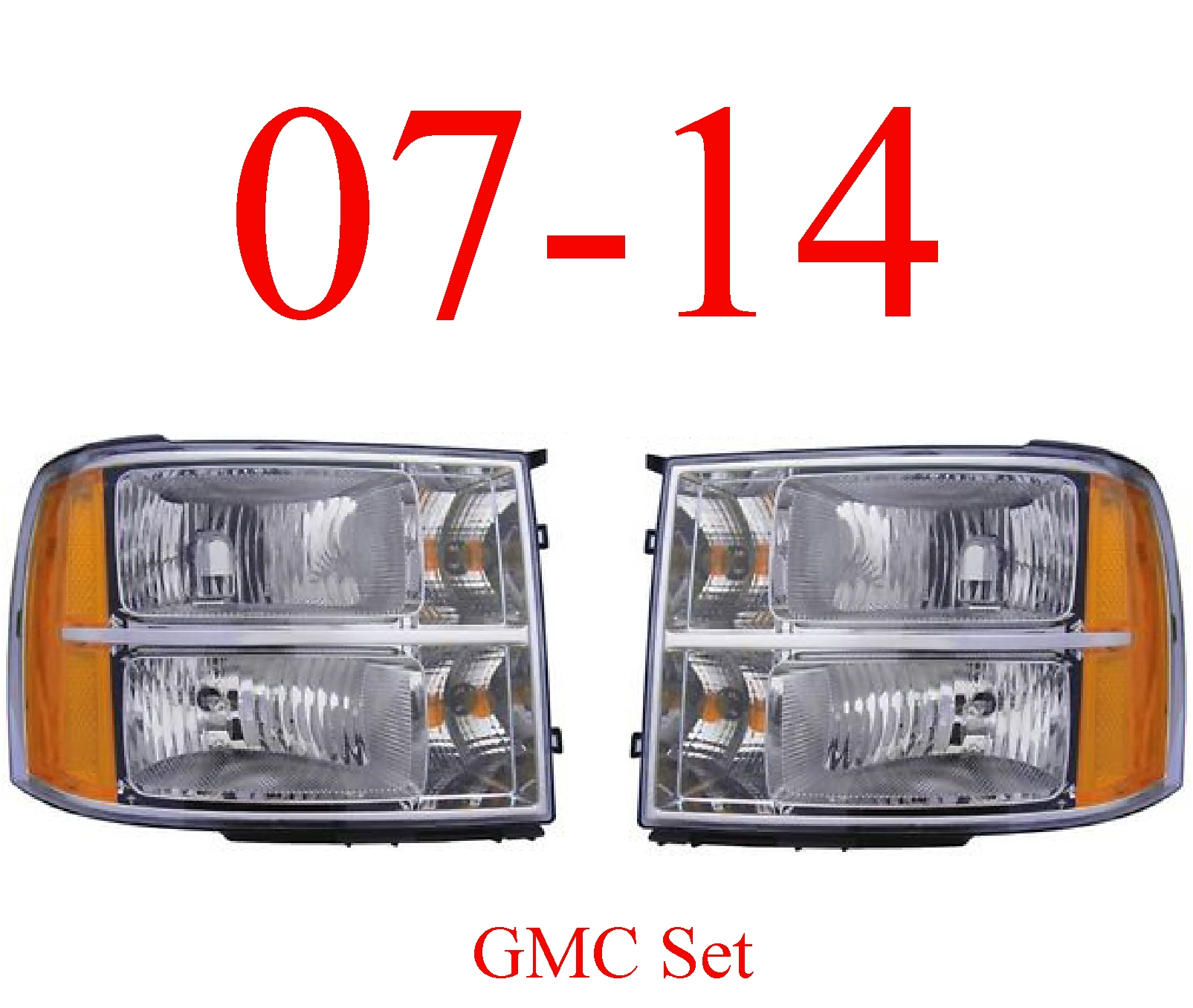 07-13 GMC Head Light Set, Complete Assembly