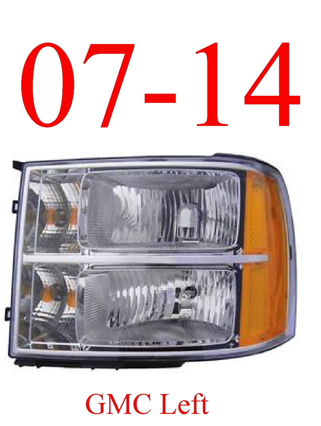 07-13 GMC Left Head Light Assembly