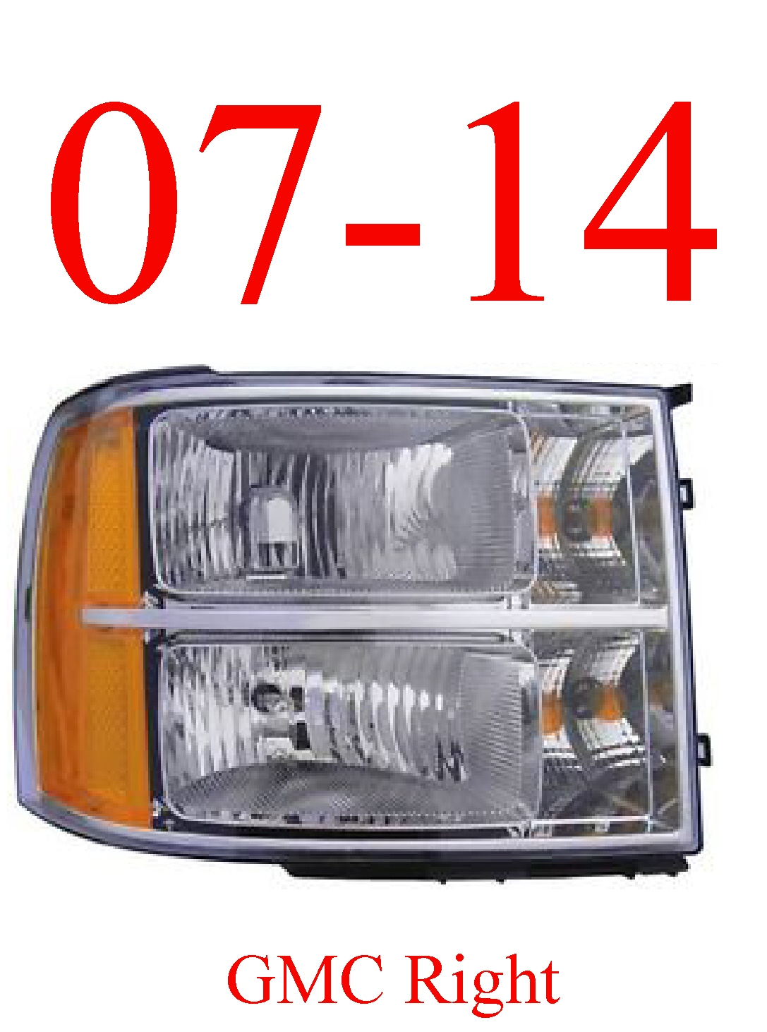 07-13 GMC Right Head Light Assembly