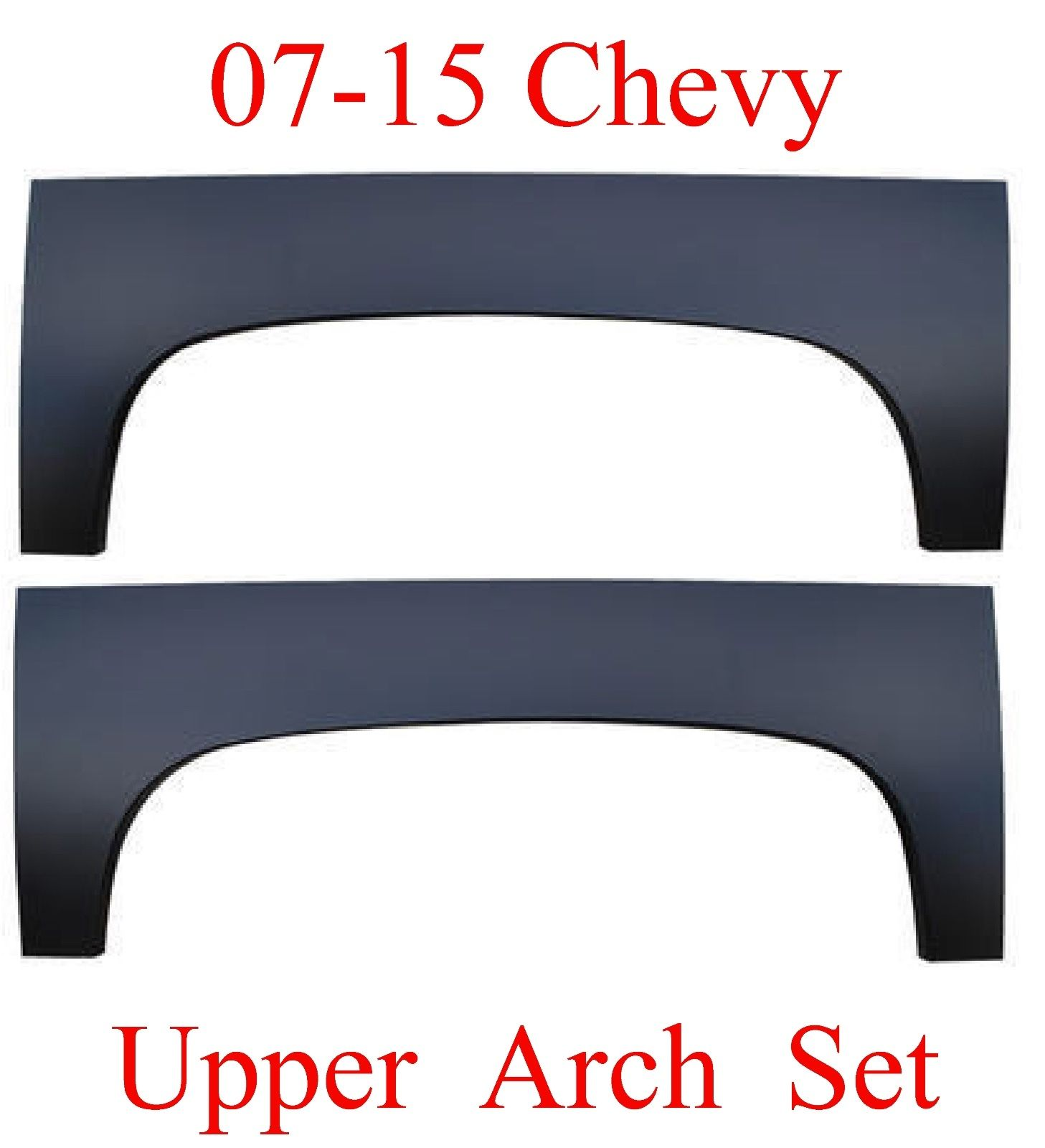 07-13 Upper Wheel Arch Set, Chevy Silverado