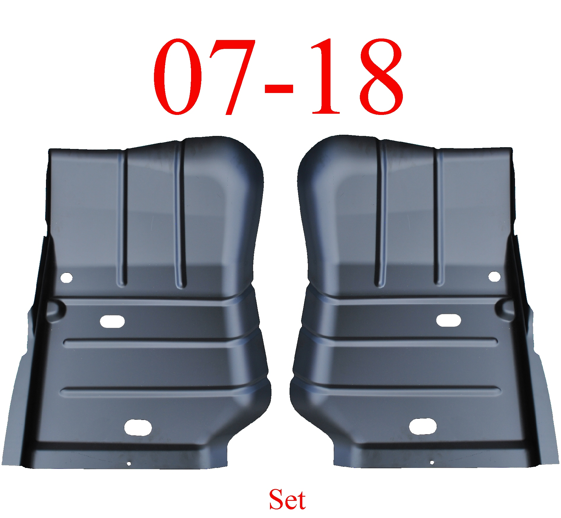 07 & Up Jeep Wrangler JK Left & Right Front Floor Pan Set