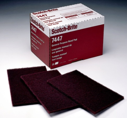 Lot of 5 Red 3M Scotch-Brite Scuff Pad
