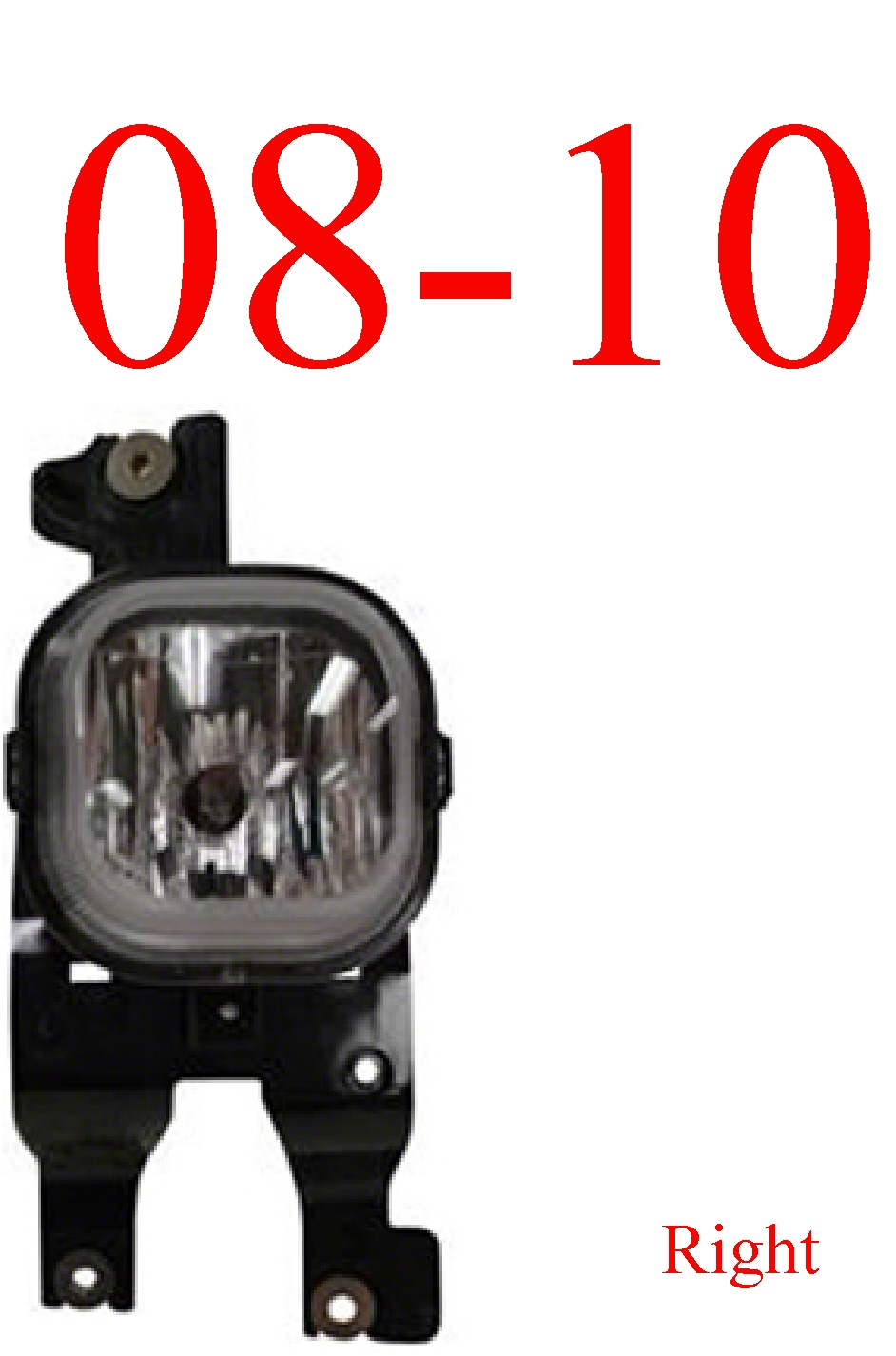 08-10 Ford Super Duty Right Fog Light Assembly