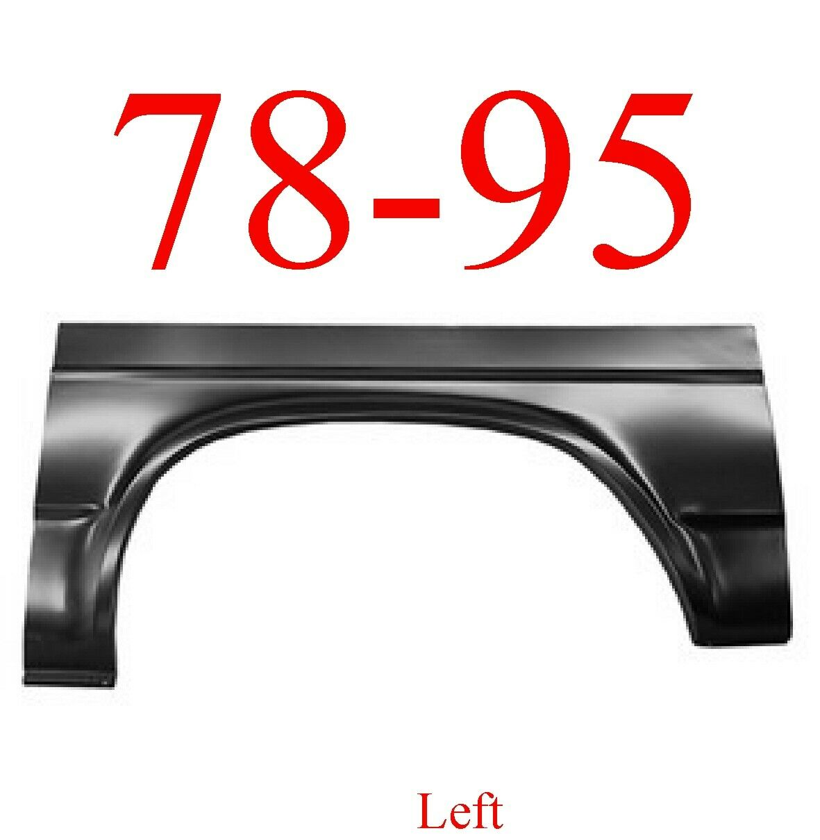 78-95 Chevy Van Left Rear Arch Panel