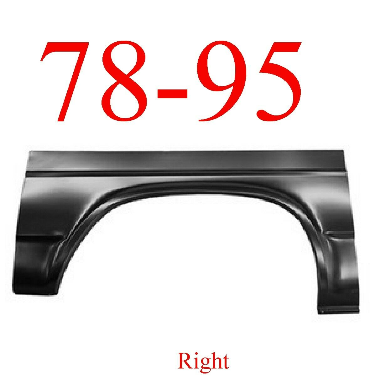 78-95 Chevy Van Right Rear Arch Panel
