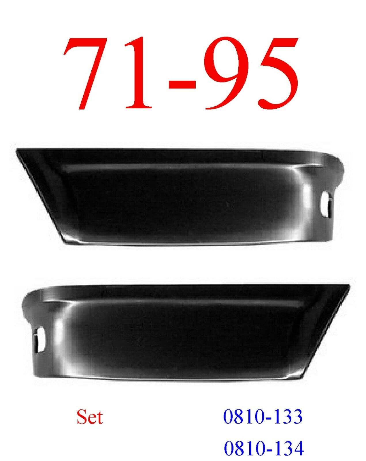 71-95 Chevy Van Rear Lower Panel Set
