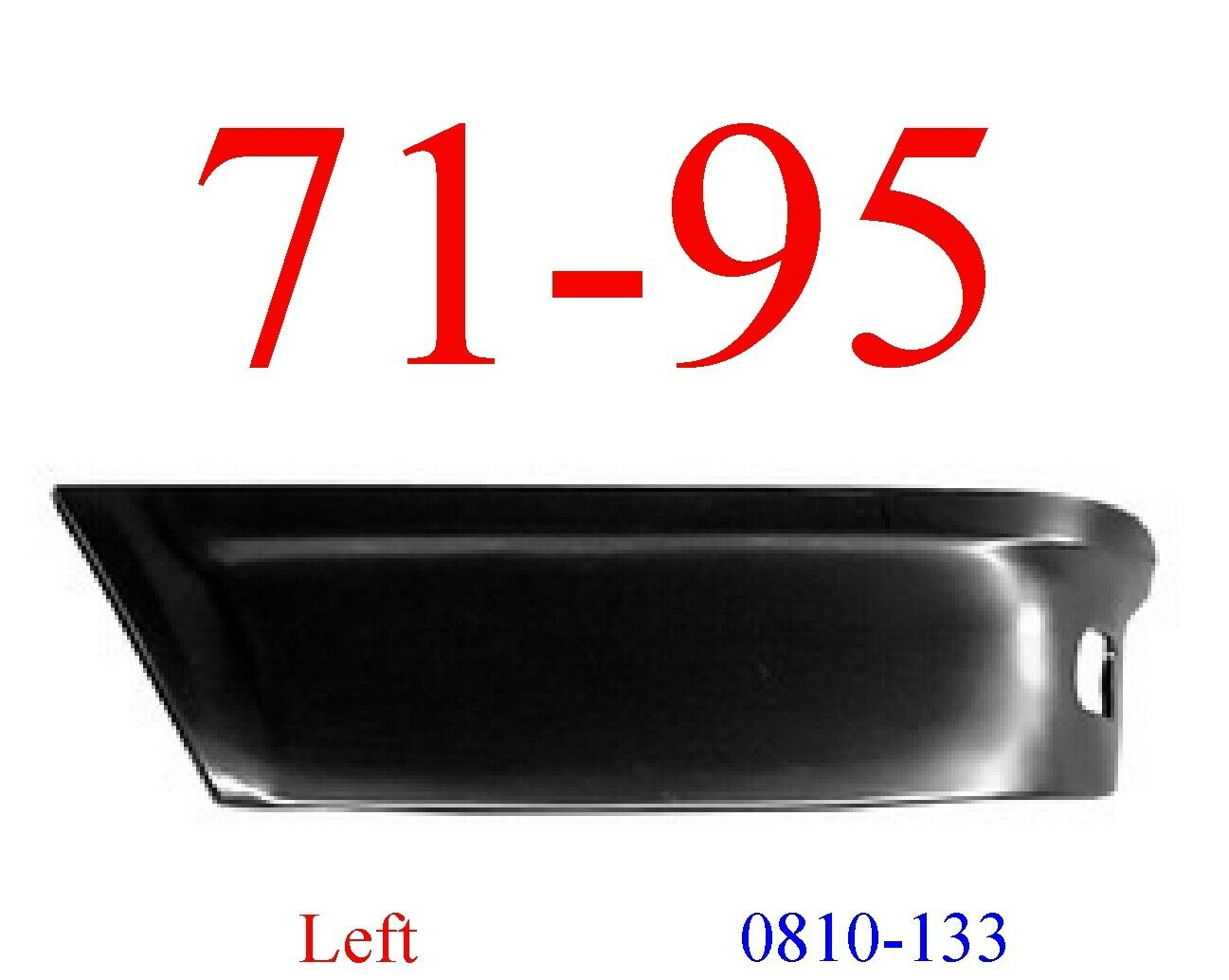 71-95 Chevy Van Left Rear Lower Panel