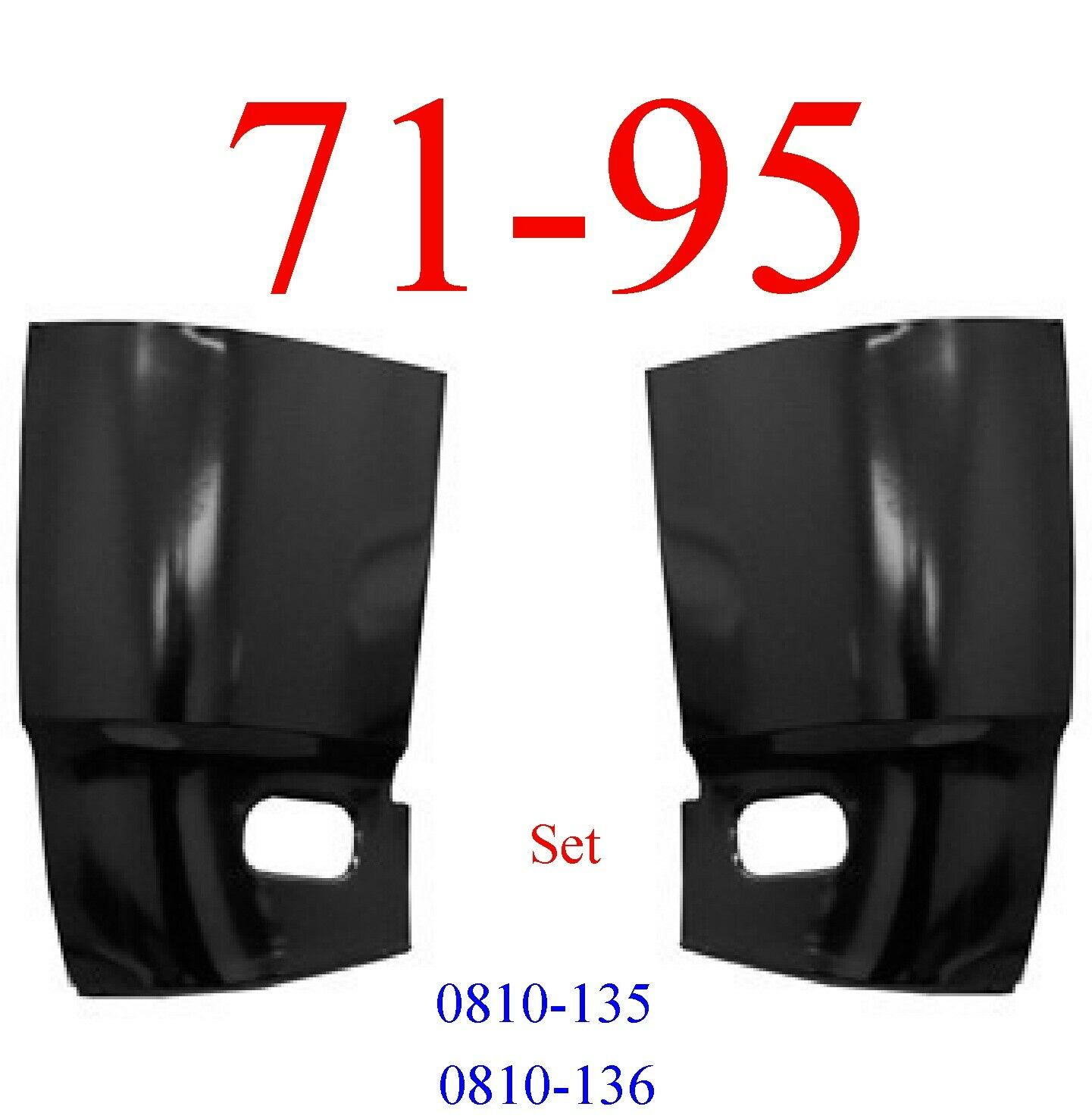 71-95 Chevy Van Cargo Corner Panel Set
