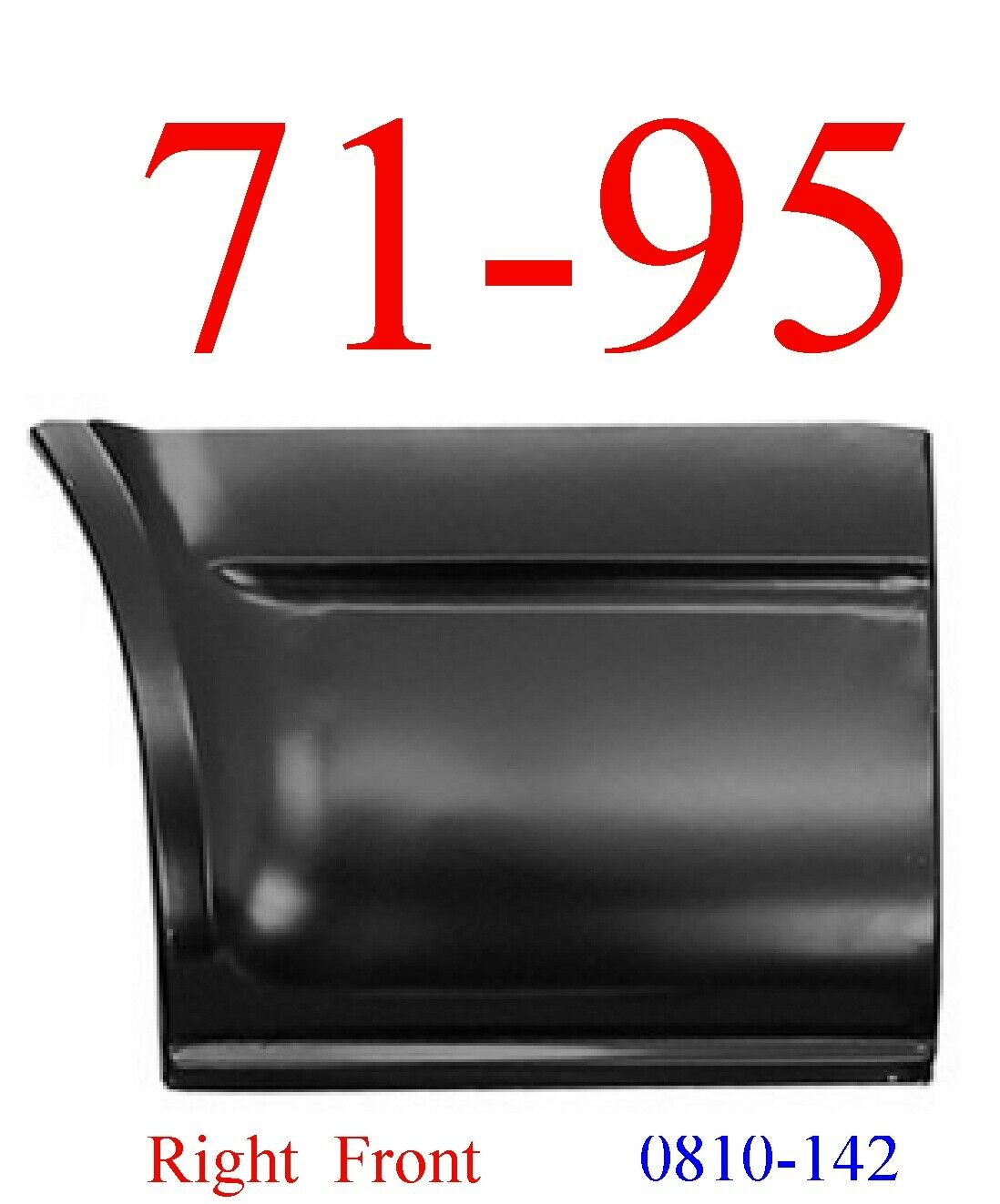 71-95 Chevy Van Right Lower Front Quarter Panel