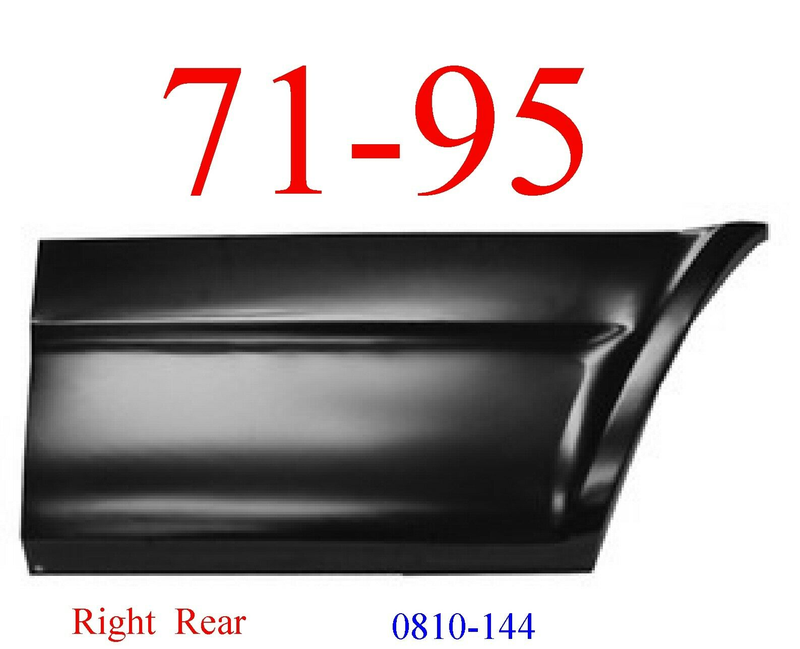 71-95 Chevy Van Right Lower Rear Quarter Panel