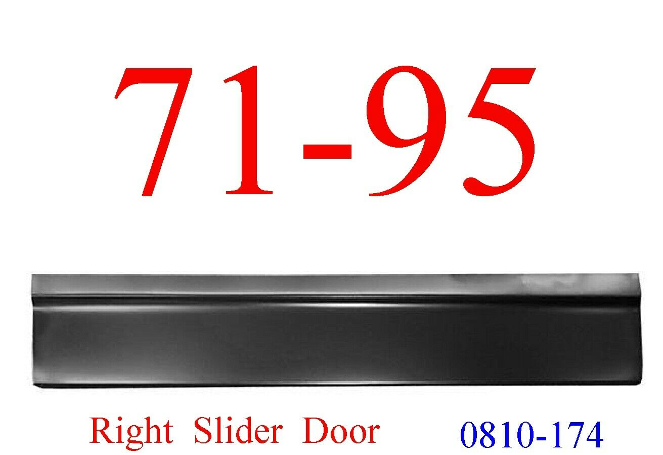 71-95 Chevy Van Right Slider Door Skin Lower