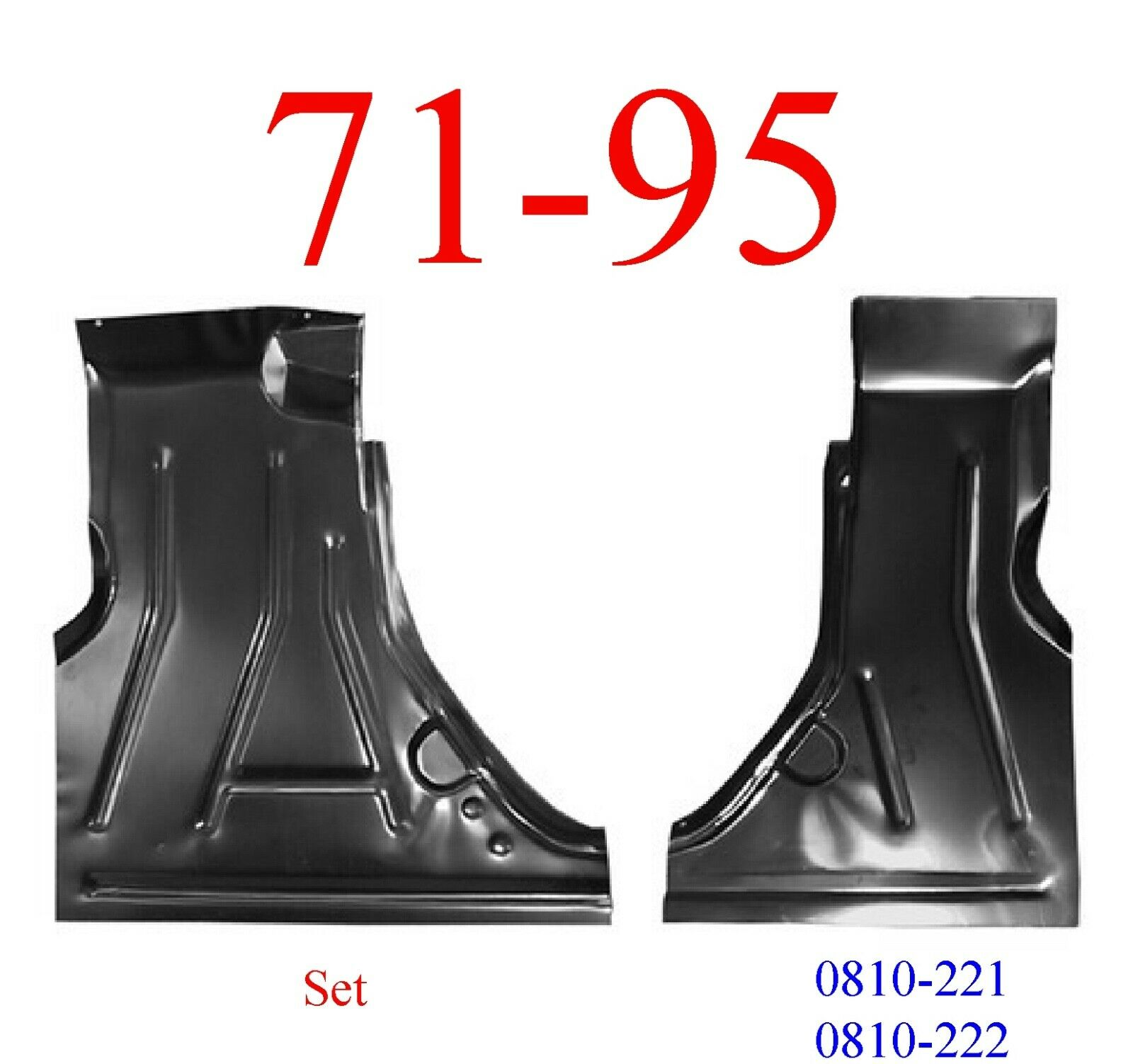 71-95 Chevy Van Floor Pan Set