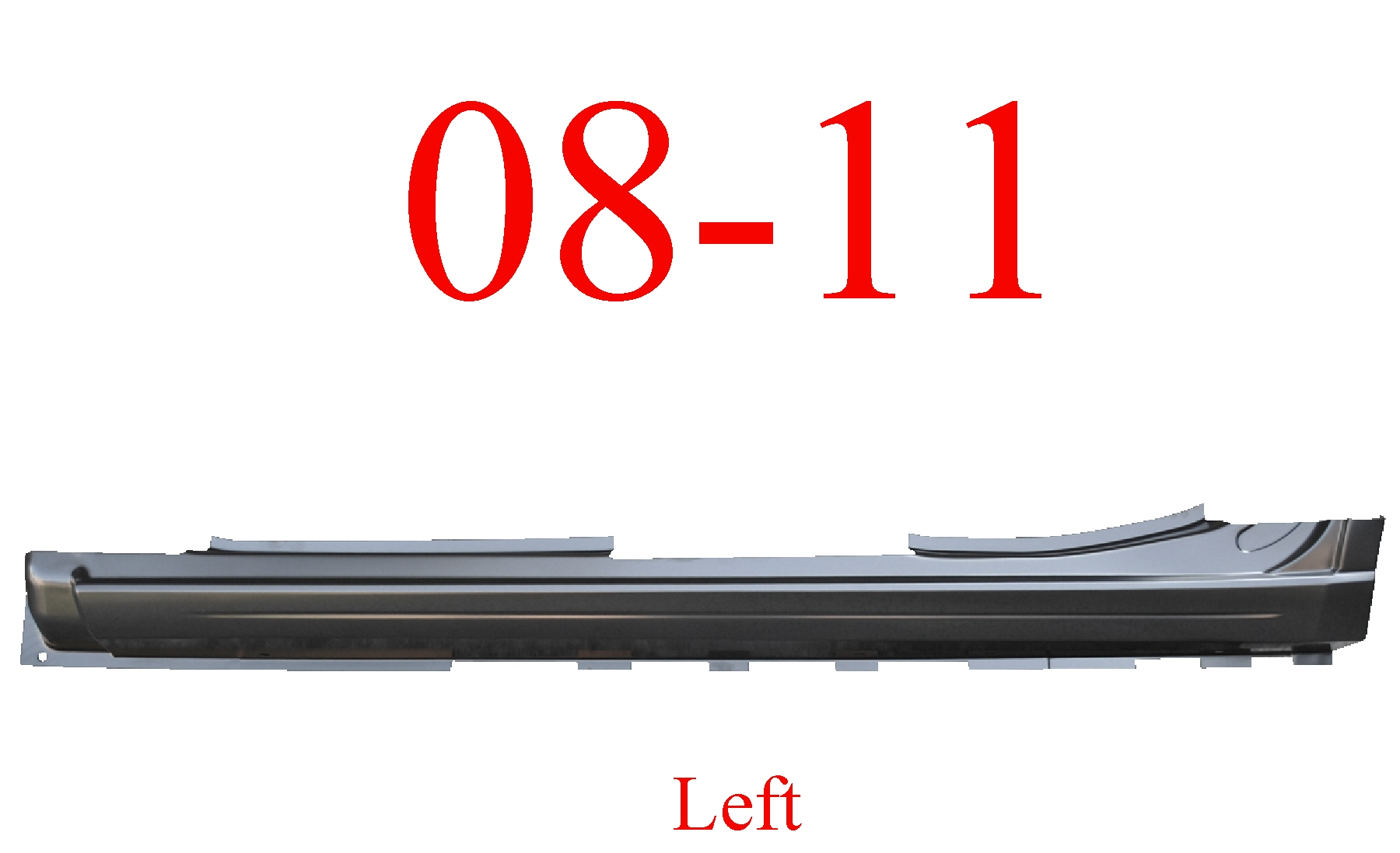 08-11 Ford Focus Left Extended Rocker Panel 4 Door