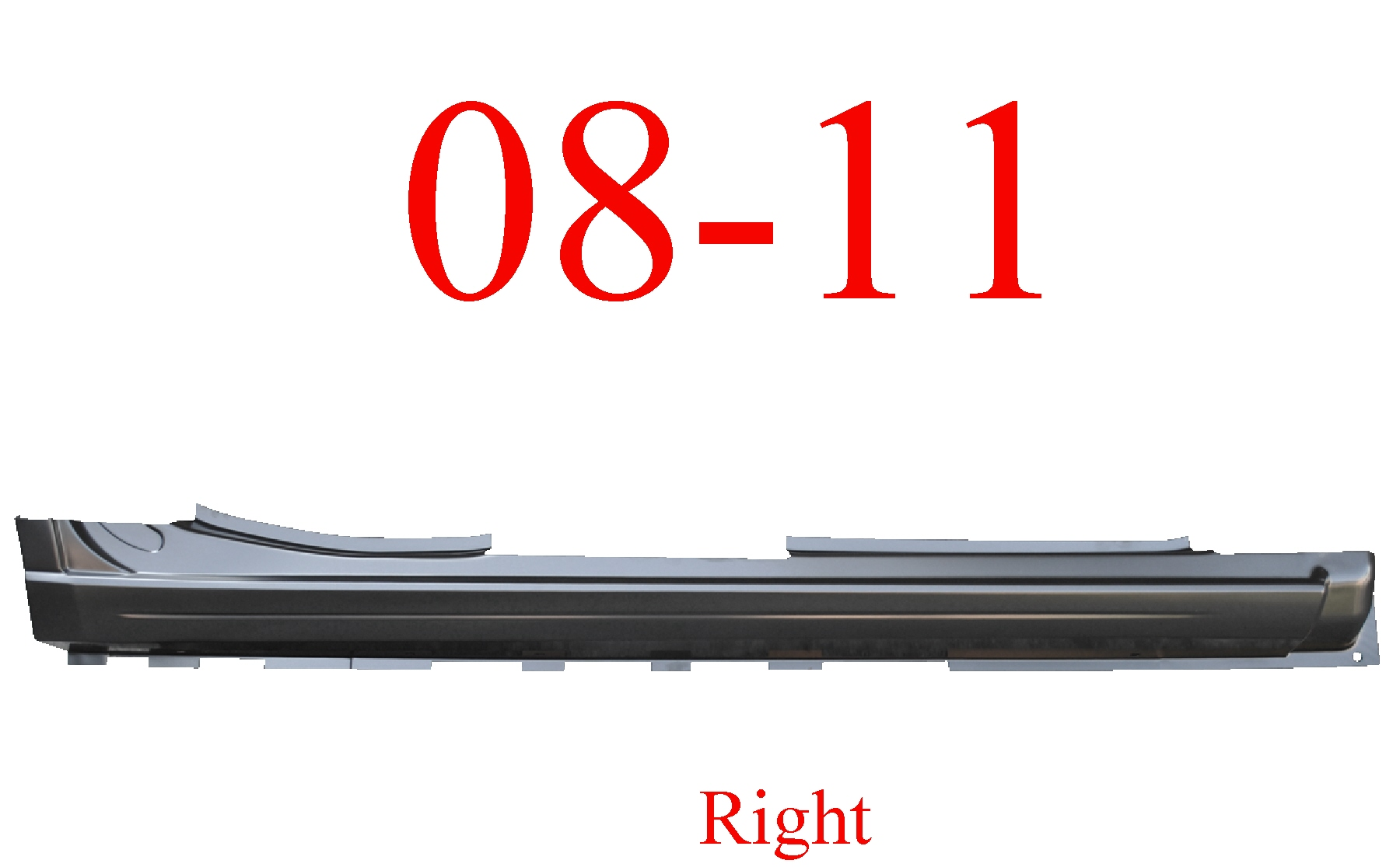 08-11 Ford Focus Right Extended Rocker Panel 4 Door