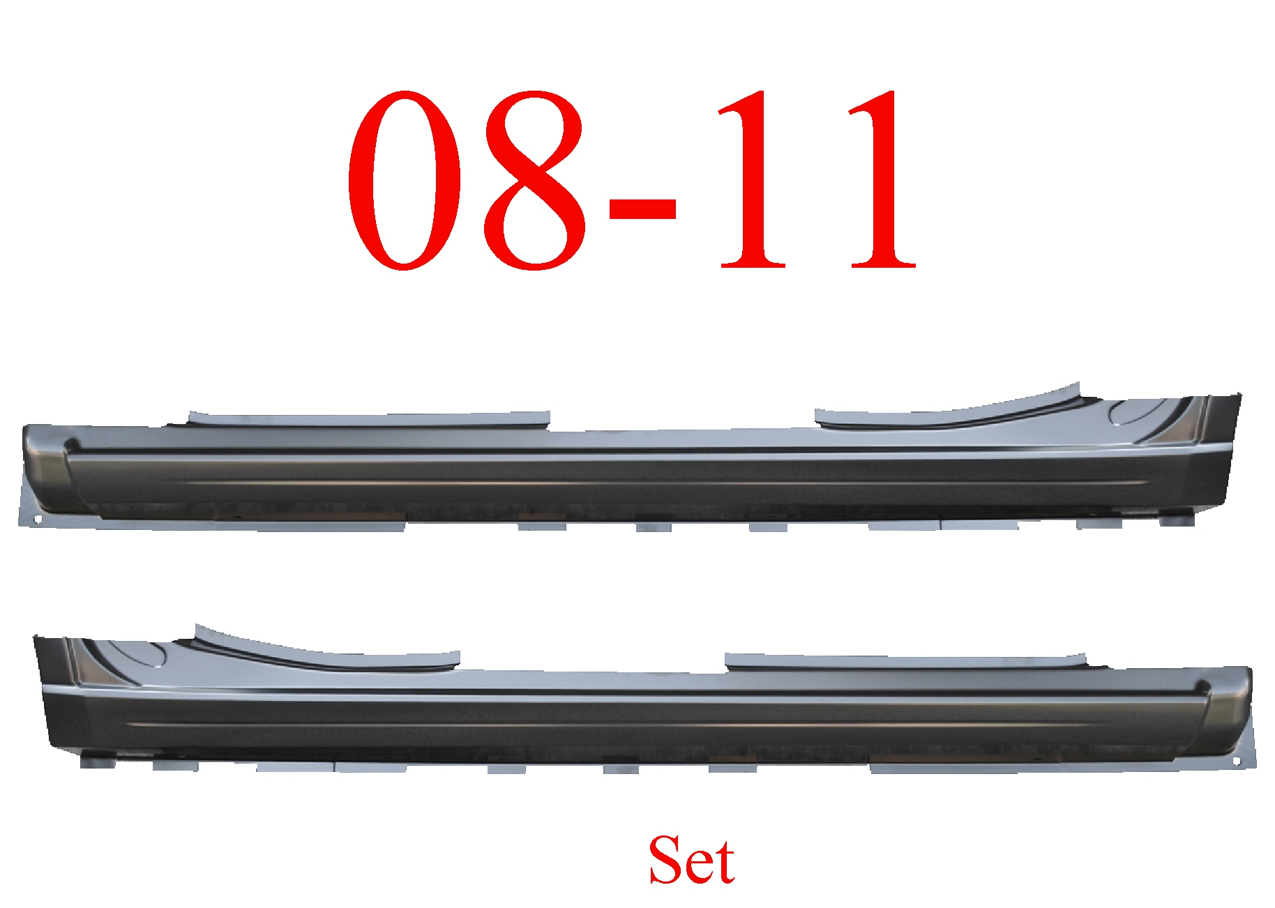 08-11 Ford Focus Extended Rocker Set Panel 4 Door
