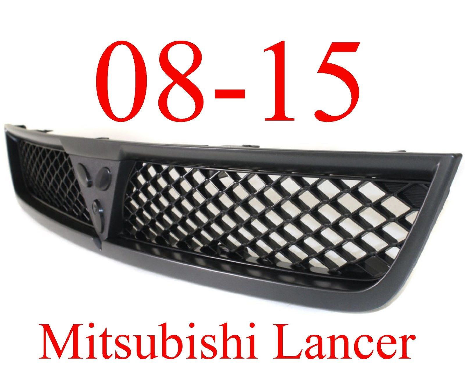 08-15 Mitsubishi Lancer Upper Grill Black