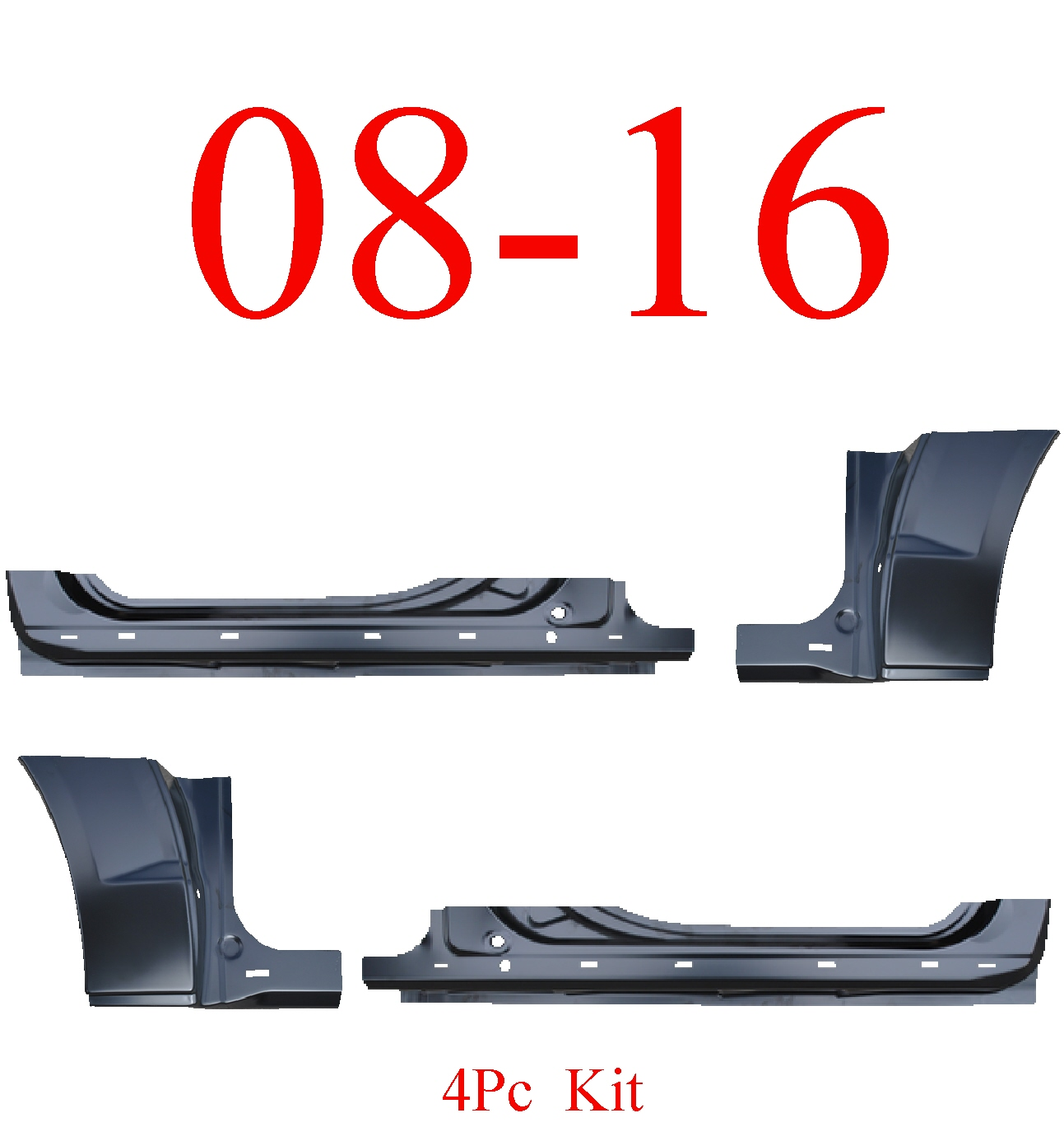 08-16 Grand Caravan 4Pc Extended Rocker Panel & Dog Leg Kit
