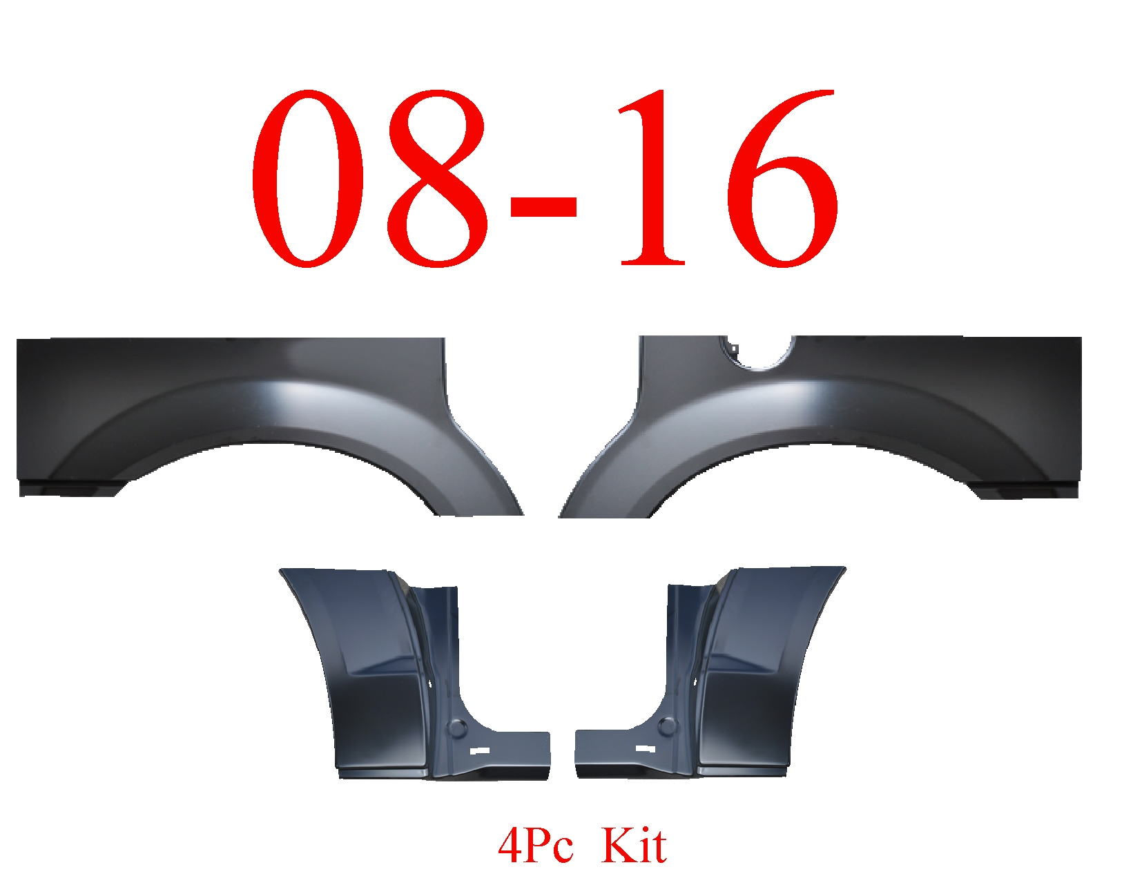 08-16 Grand Caravan 4Pc Upper Arch & Dog Leg Kit