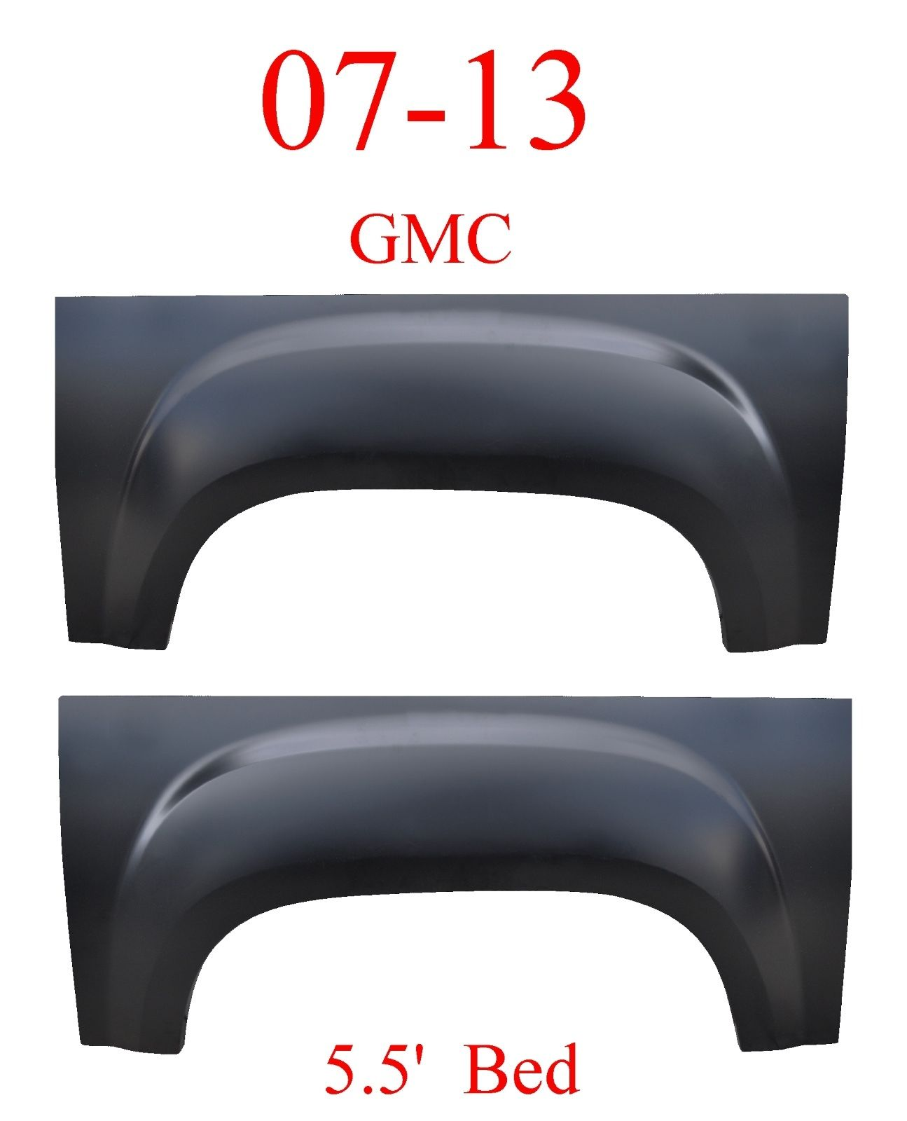5.5' Bed GMC 07-13 Upper Wheel Arch Set