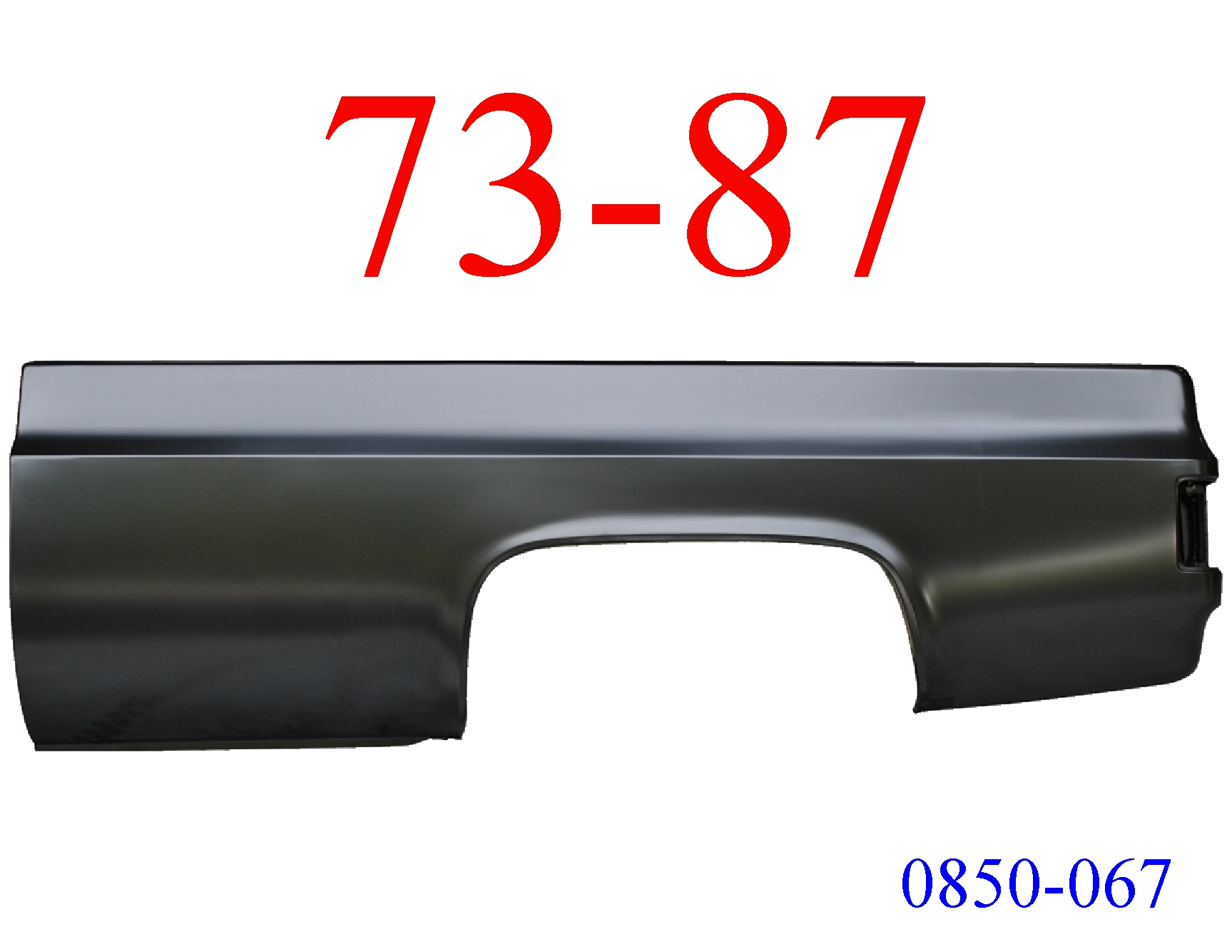 73-87 Chevy Truck 8\' Left Bed Side No Fuel Hole 0850-067
