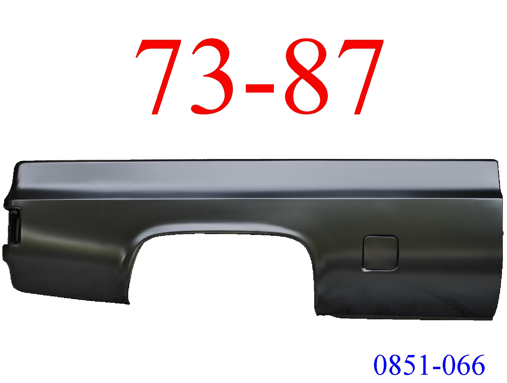 73-87 Chevy Truck 8\' Right Bed Side Square Fuel Hole 0851-066