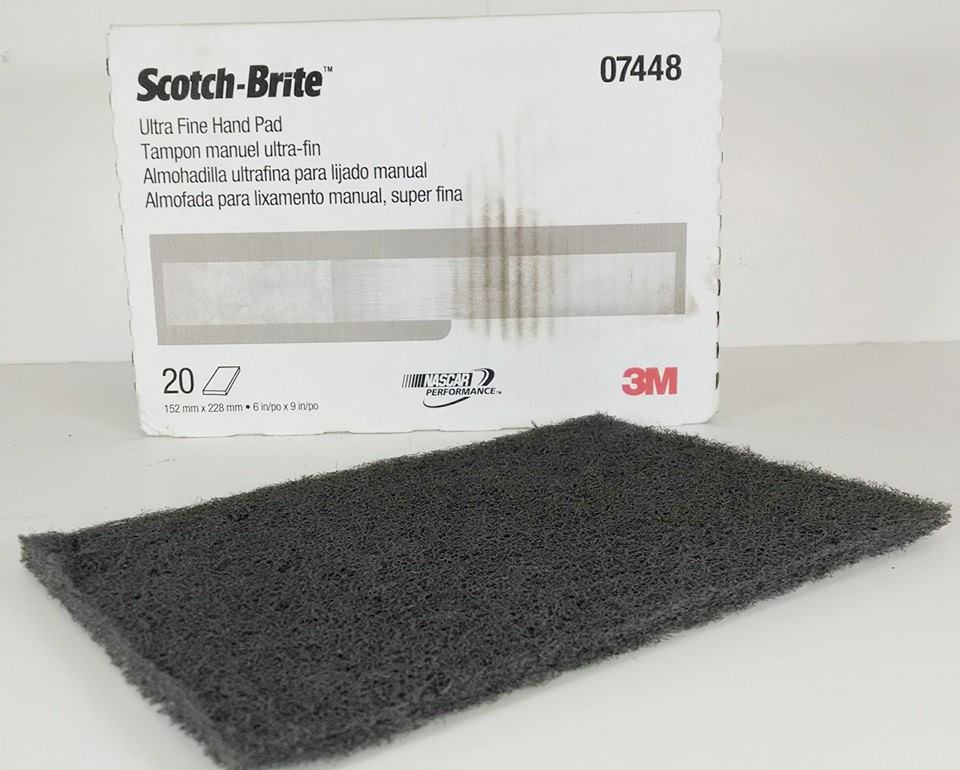 Lot of 5 Grey 3M Scotch-Brite Grey Scuff Pad