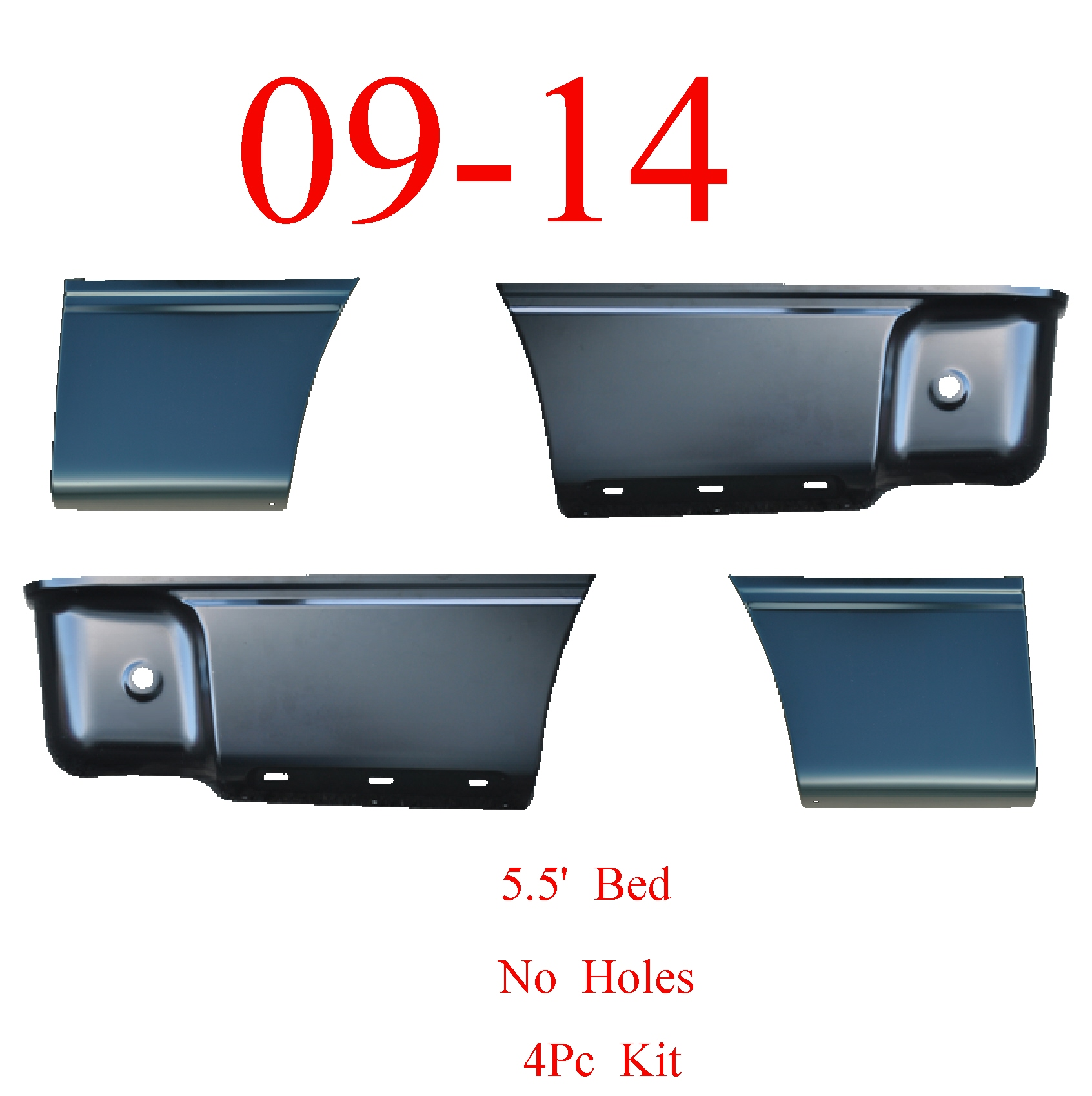 04 08 F150 Left Front 5.5/' Lower Bed Patch Panel Without Holes 1988-135