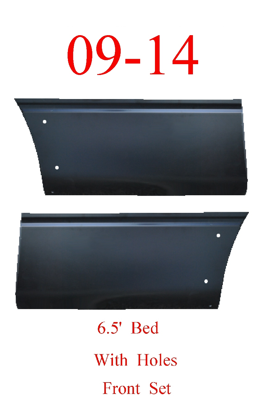 09-14 F150 Front 6.5' Lower Bed Patch Set With Holes